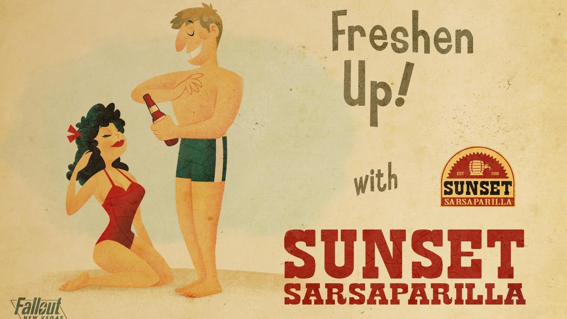 Sunset Sarsaparilla – Fallout New Vegas wallpaper 1080P .