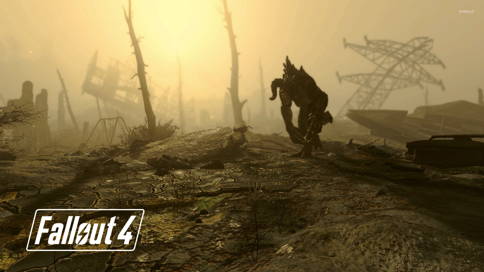 Deathclaw in Fallout 4 wallpaper jpg