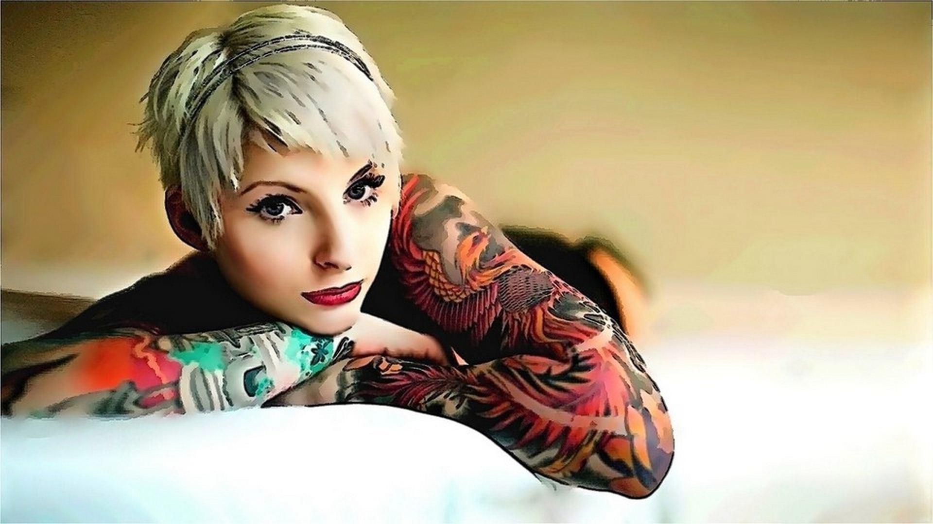 Anime Girl Tattoos Desktop Wallpaper: Desktop HD Wallpaper 1920×1200 Girl  Tattoo Wallpapers (