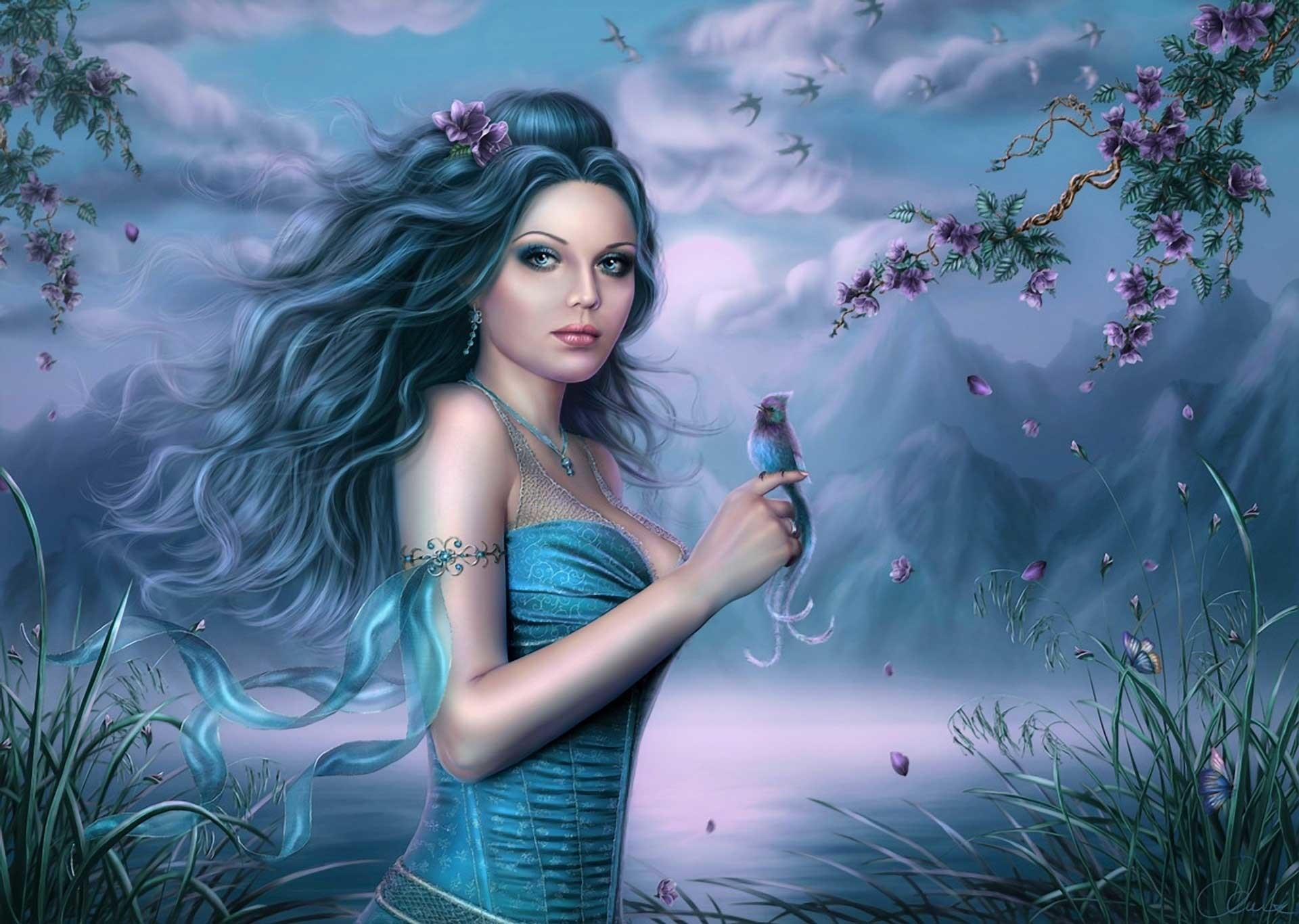 3d fantasy women wallpaper