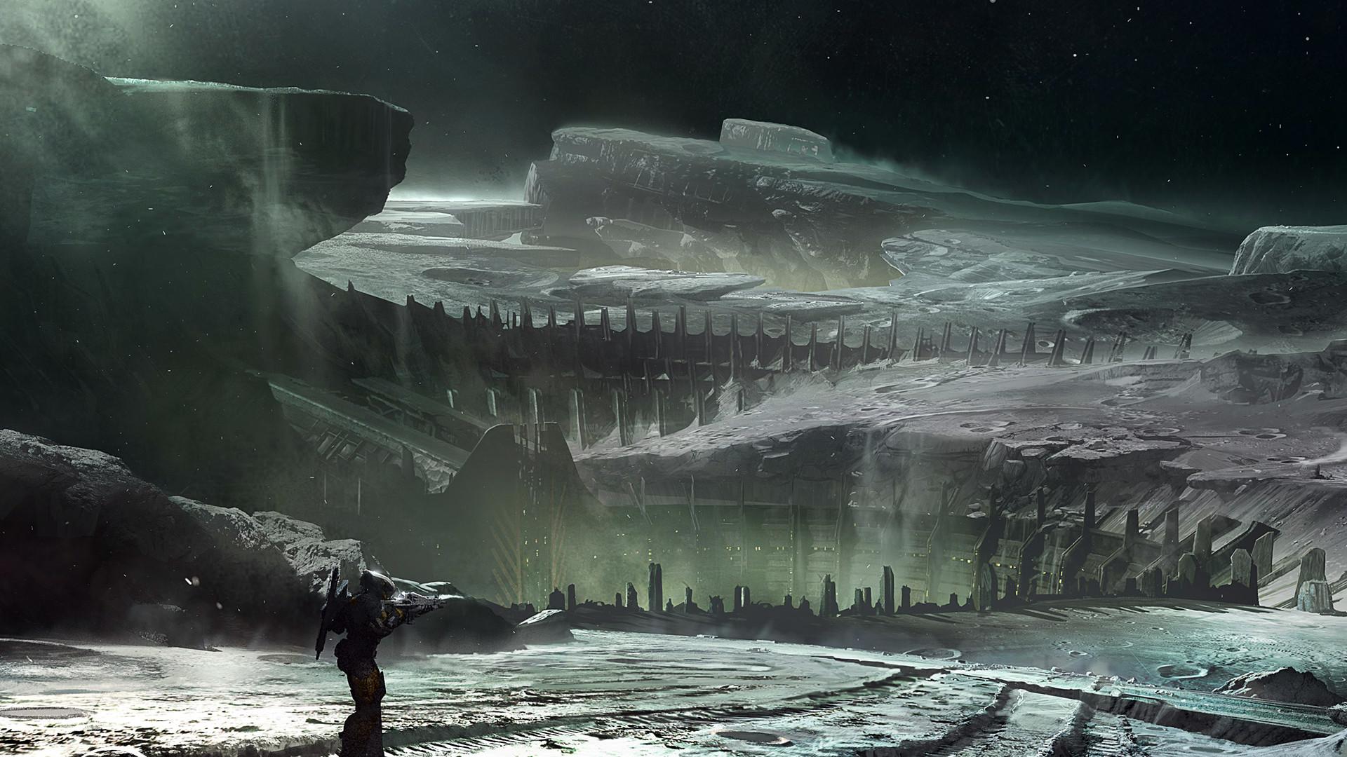 Moon Surface Destiny Wallpaper HD