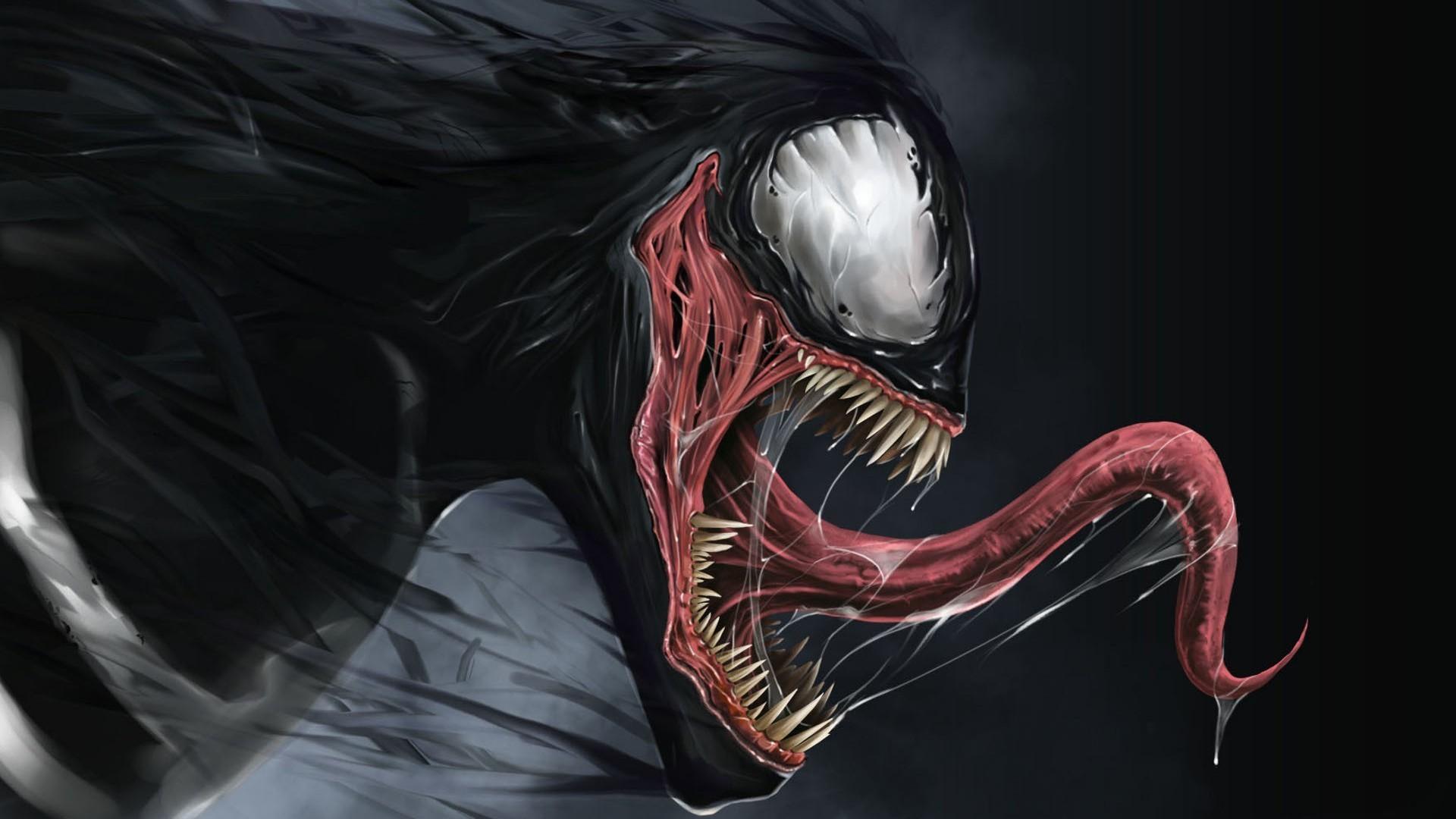 Preview wallpaper venom, marvel comics, spider-man 1920×1080