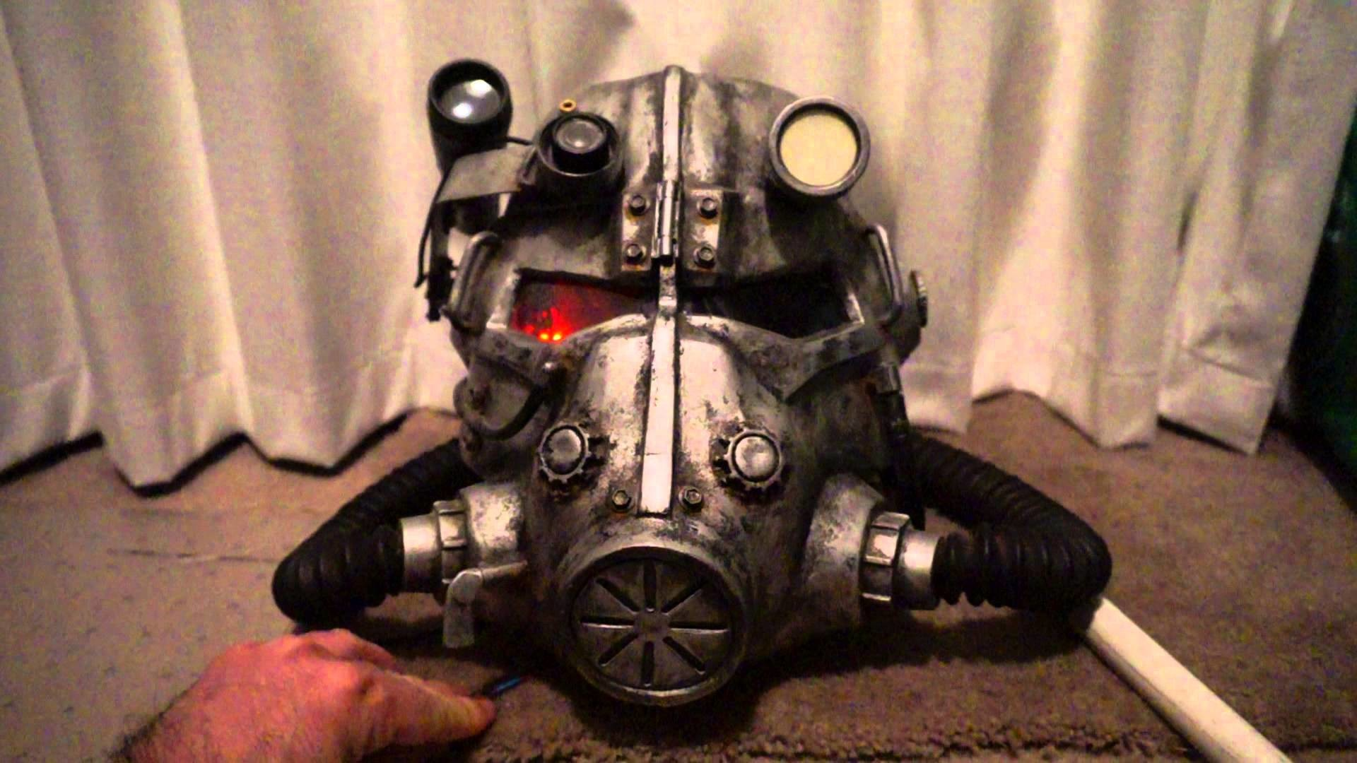 Fallout 3 Brotherhood of Steel power armour helmet ***COMPLETE*** – YouTube