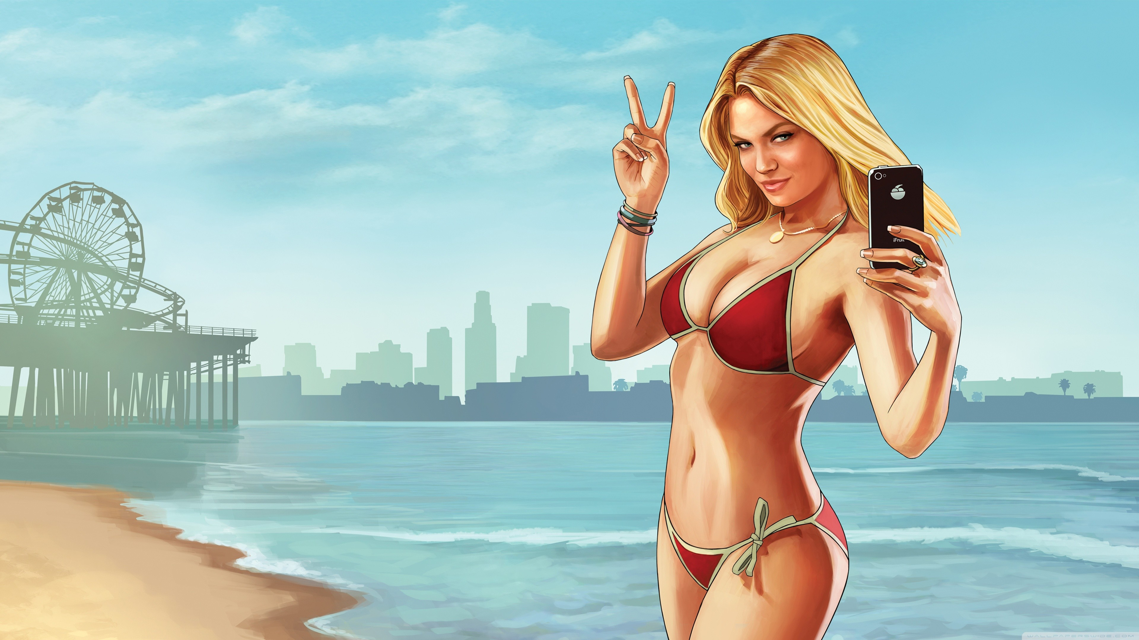 Grand Theft Auto V Beach Weather HD Wide Wallpaper for Widescreen