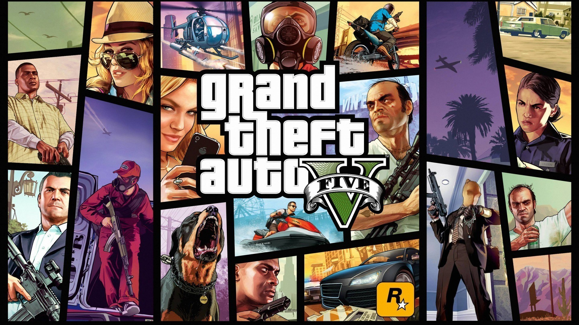 Grand Theft Auto V Wallpaper (Fanmade)HD 1980×1080 by .