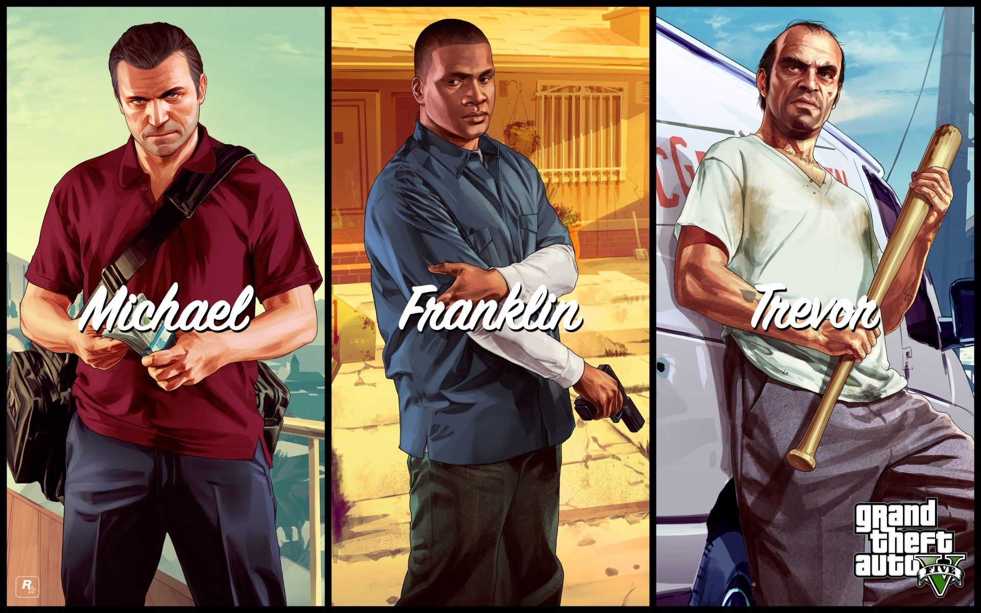 Michael Franklin Trevor In GTA 5 Wallpapers   HD Wallpapers