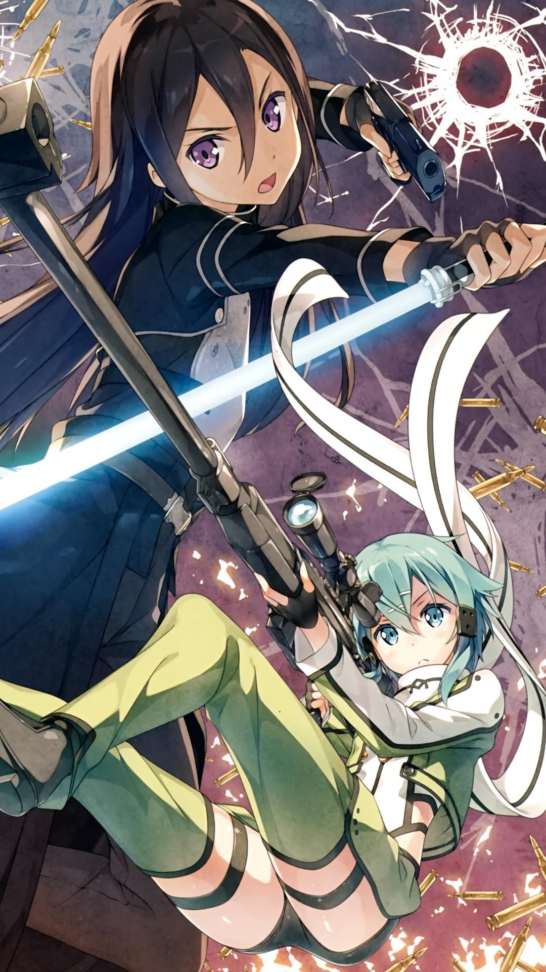Sword Art Online 2 Kirito Sinon.Sony Xperia Z wallpaper 1080×1920