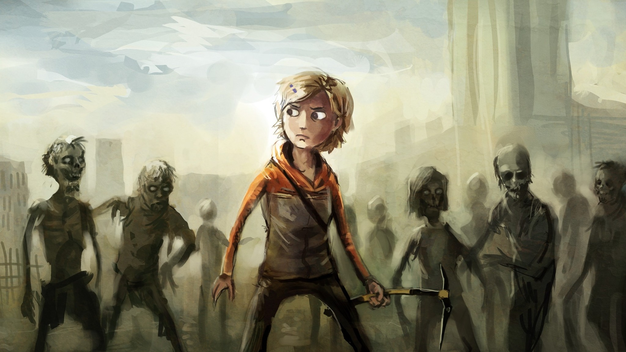 Preview wallpaper the walking dead, molly, zombies 2048×1152