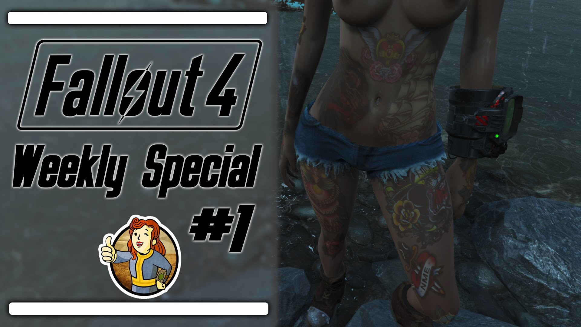 Fallout 4 Weekly S.P.E.C.I.A.L. #1: 4k Textures, Tattoos and T!tties –  YouTube