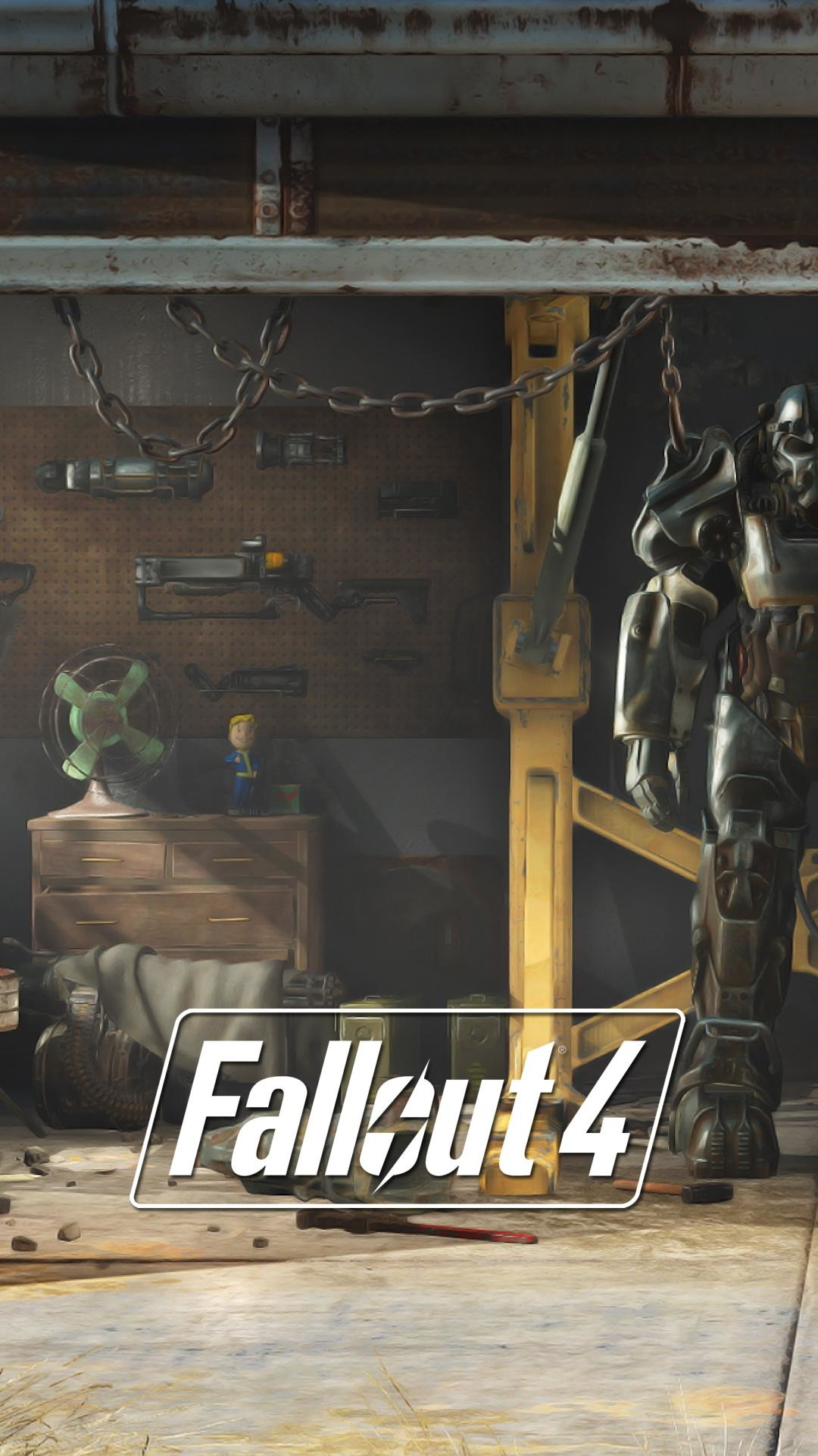 I made some Fallout 4 lock screen wallpapers from E3 stills [1080p] : gaming
