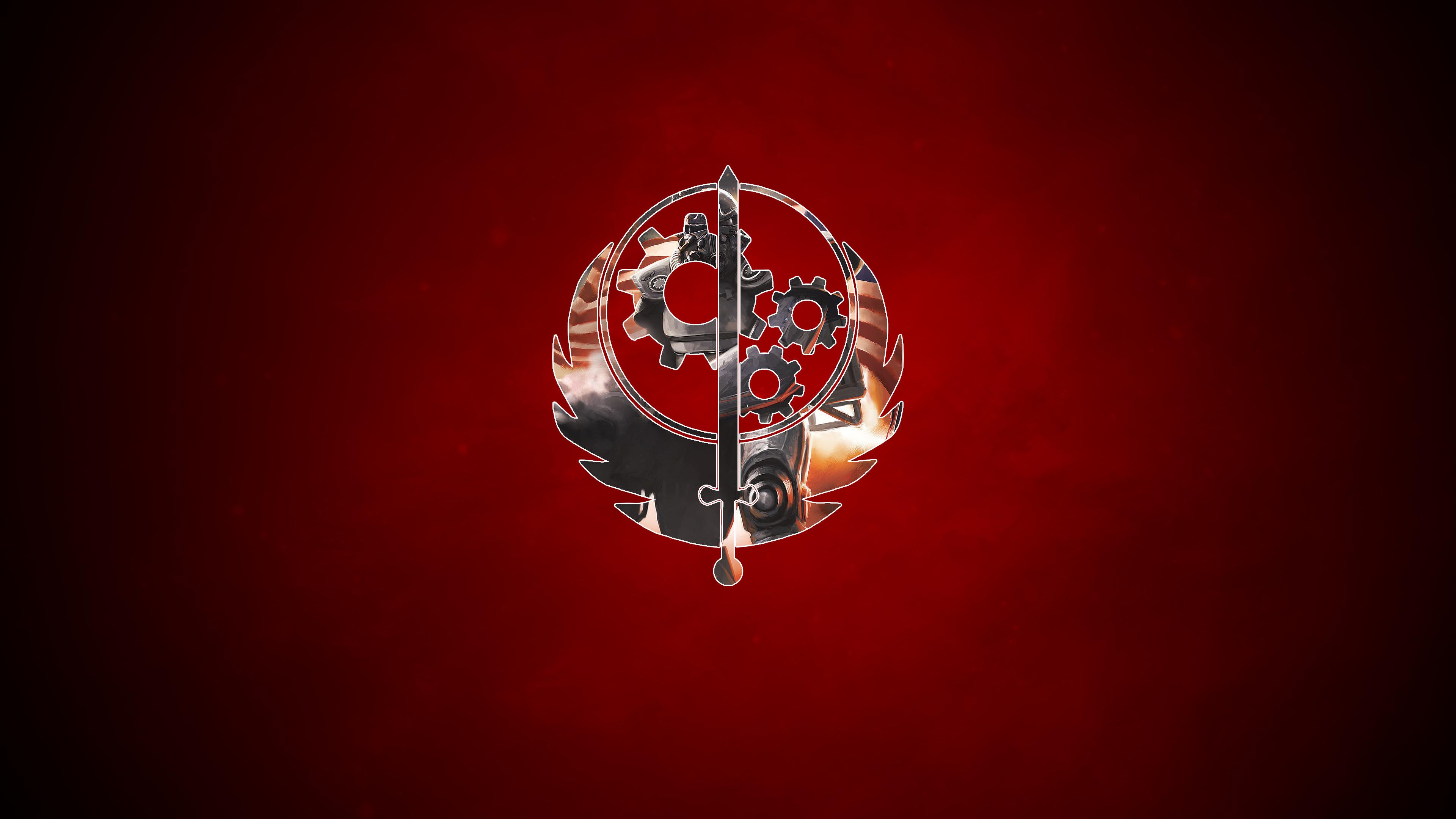 The Brotherhood of Steel 4K Logo Wallpaper. 4K Fallout 4 Wallpapers