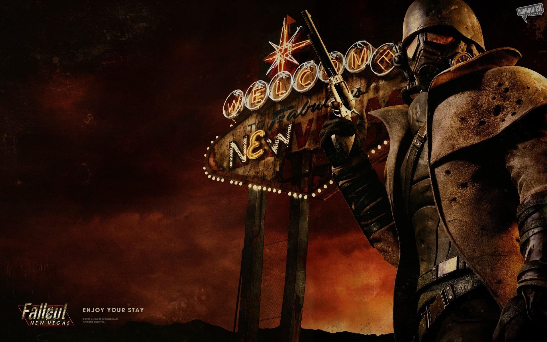 Fallout New Vegas, Logo Red HD desktop wallpaper : Mobile : Dual .