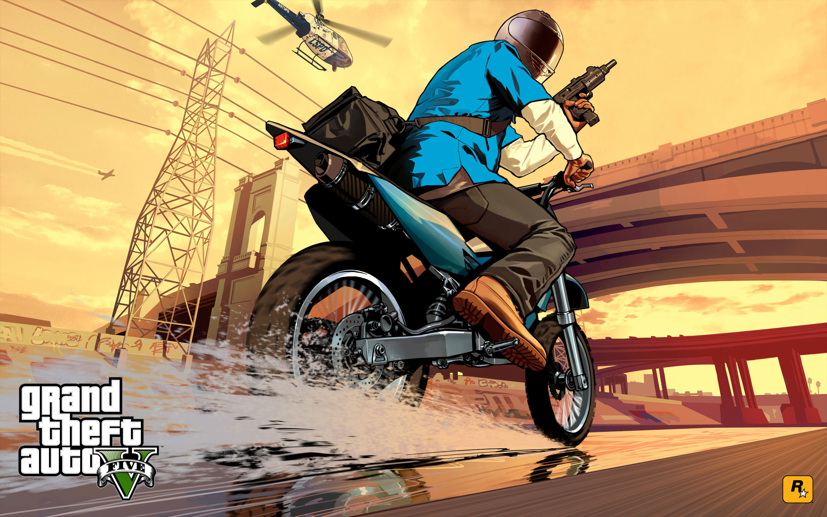 New GTA V Wallpapers of Franklin and Michael
