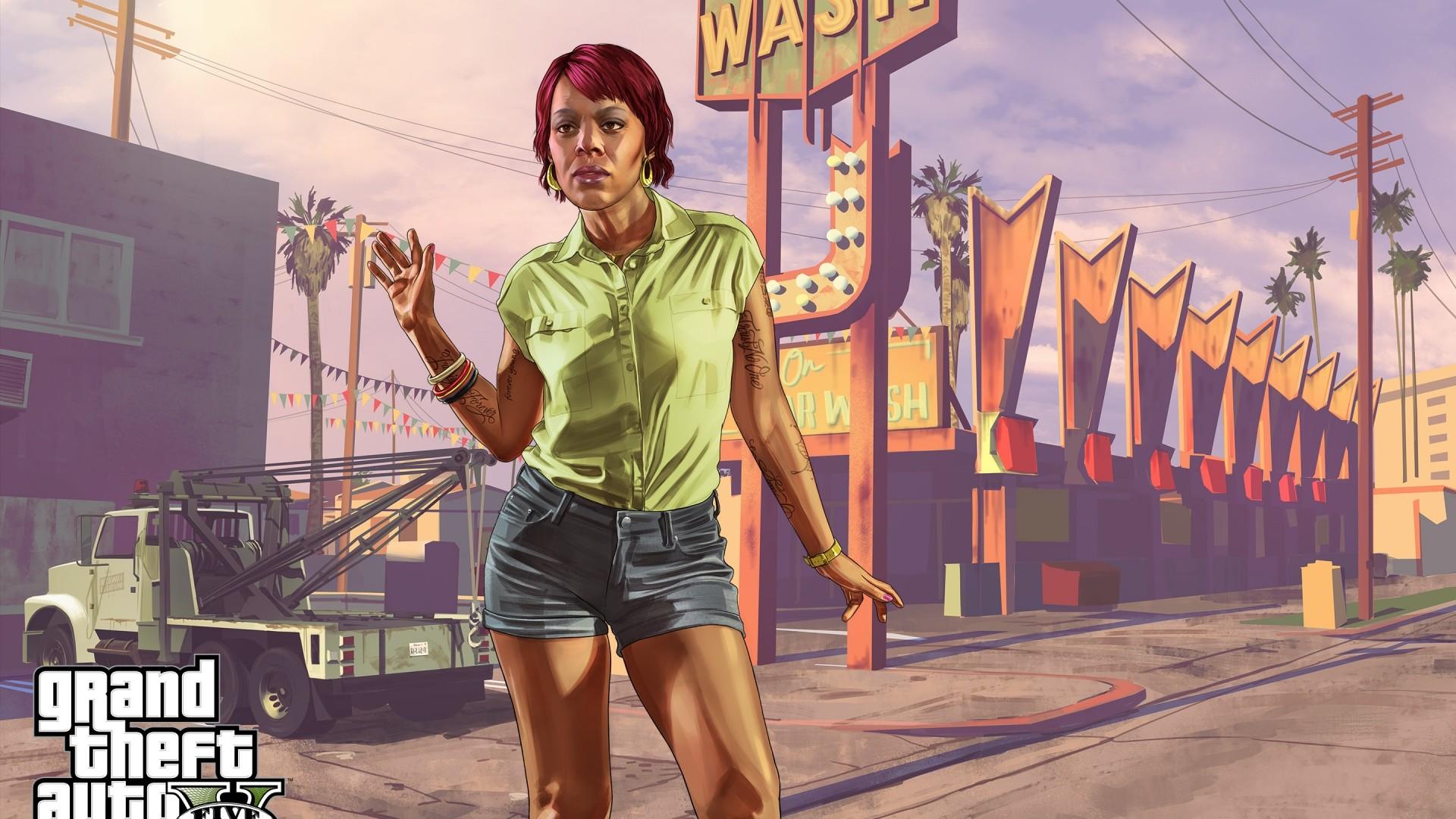 Wallpaper tonya wiggins, rockstar games, grand theft auto v