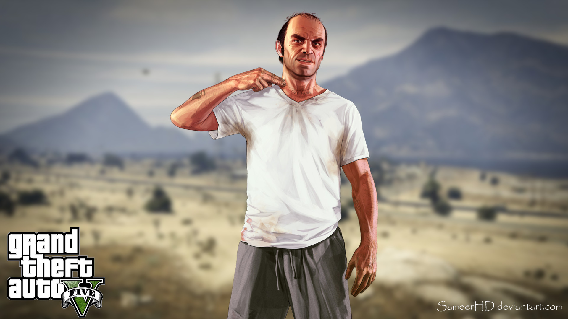 Grand Theft Auto V Trevor Phillips Wallpaper by SameerHD GTA V Wallpaper  …