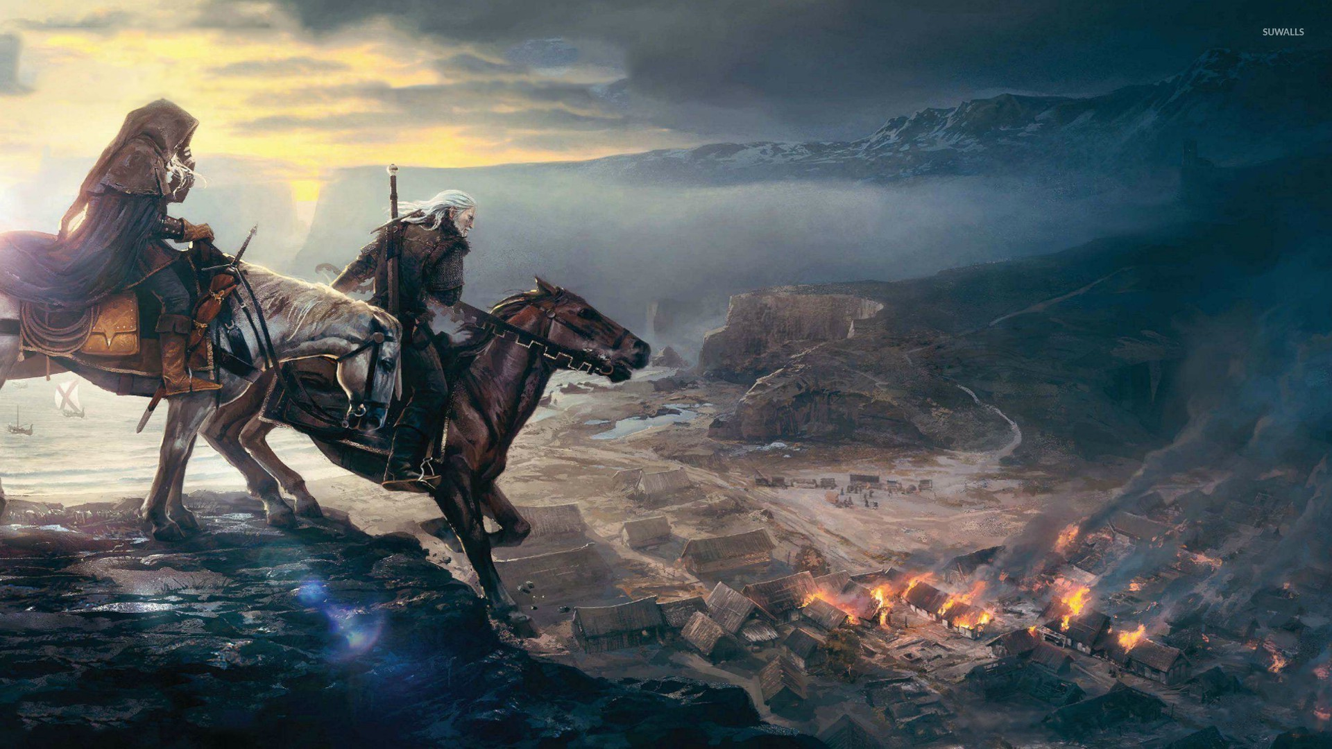 Download Wallpaper 1366×768 The witcher 3, Wild hunt, Forest .