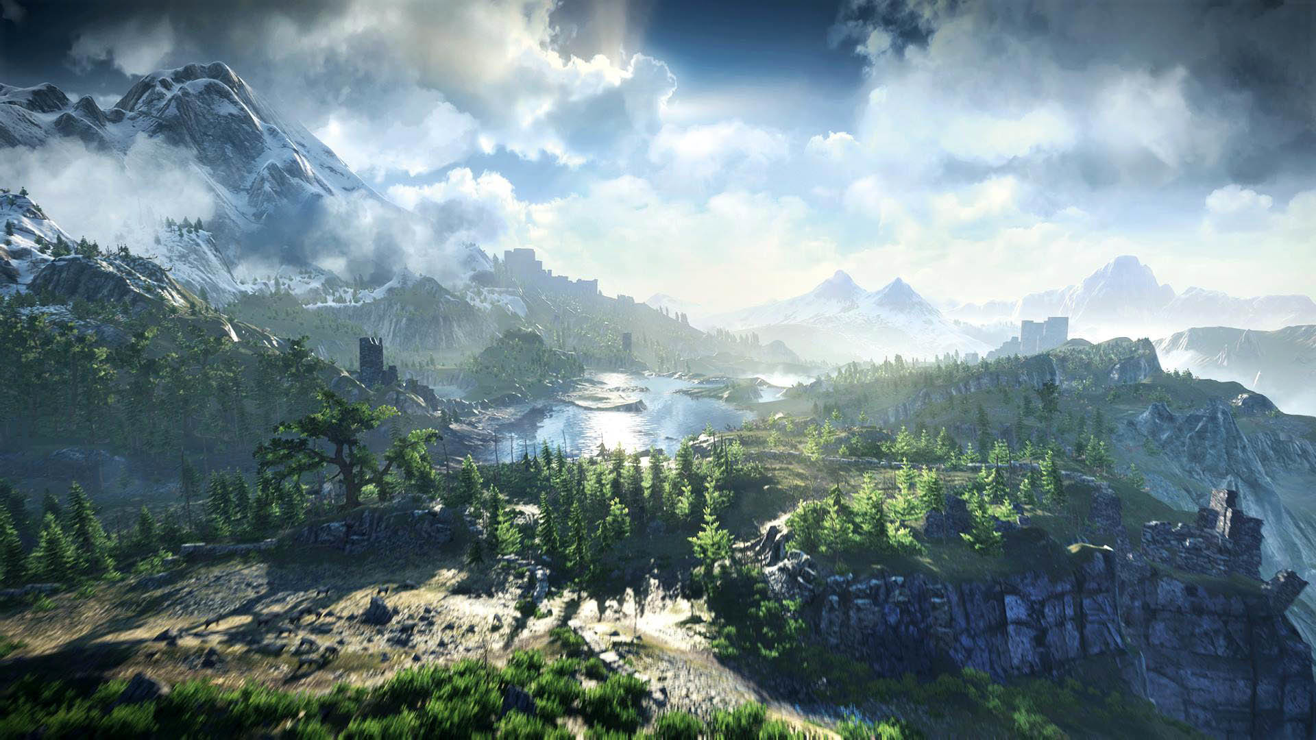 The Witcher 3: Wild Hunt Beautiful Landscape wallpaper