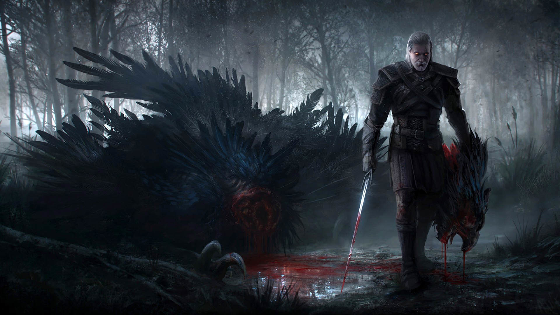 Geralt after Killing the Griffon, The Witcher 3: Wild Hunt  wallpaper