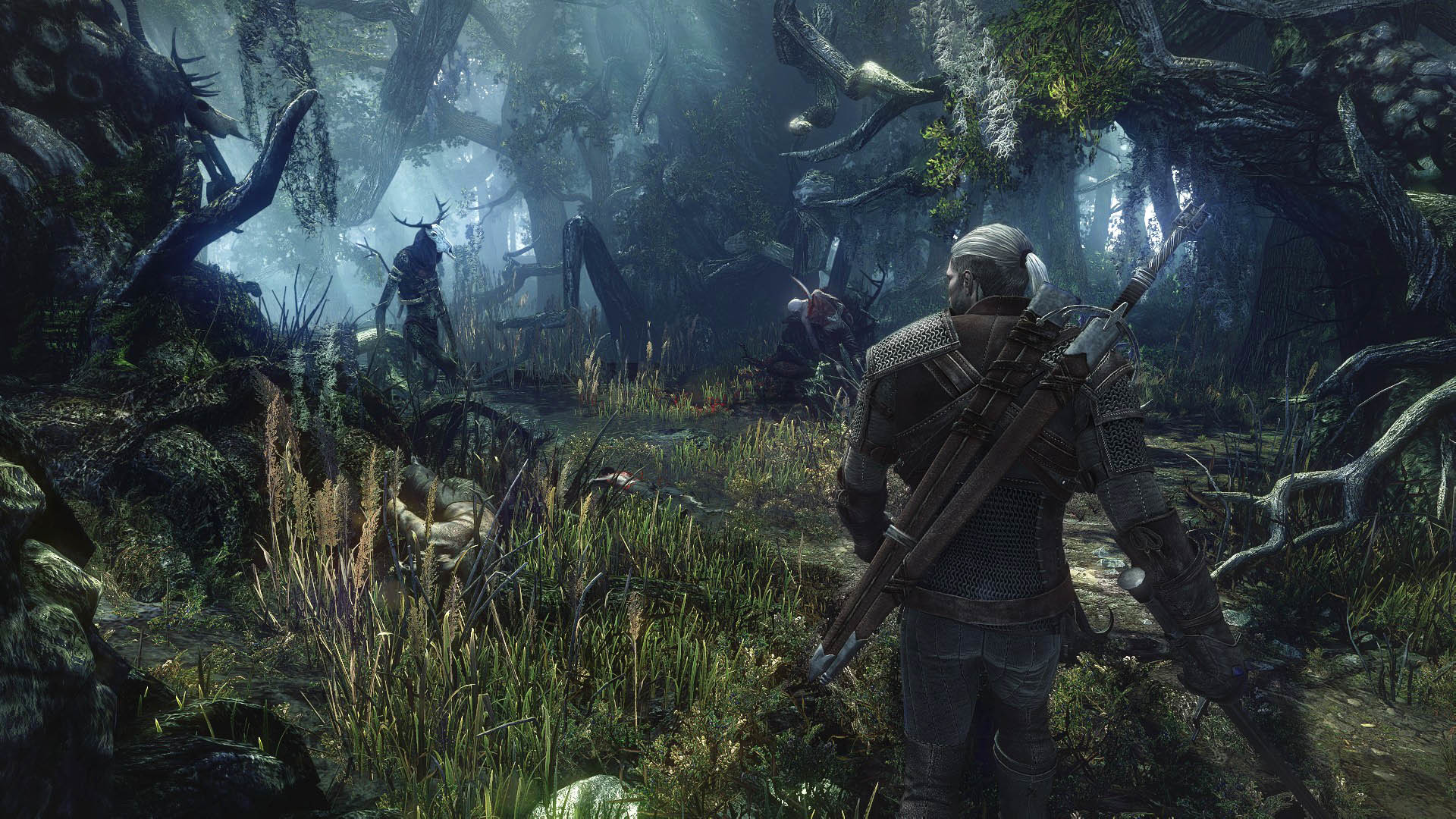 Leshen In The Wood The Witcher 3 Wild Hunt Wallpaper
