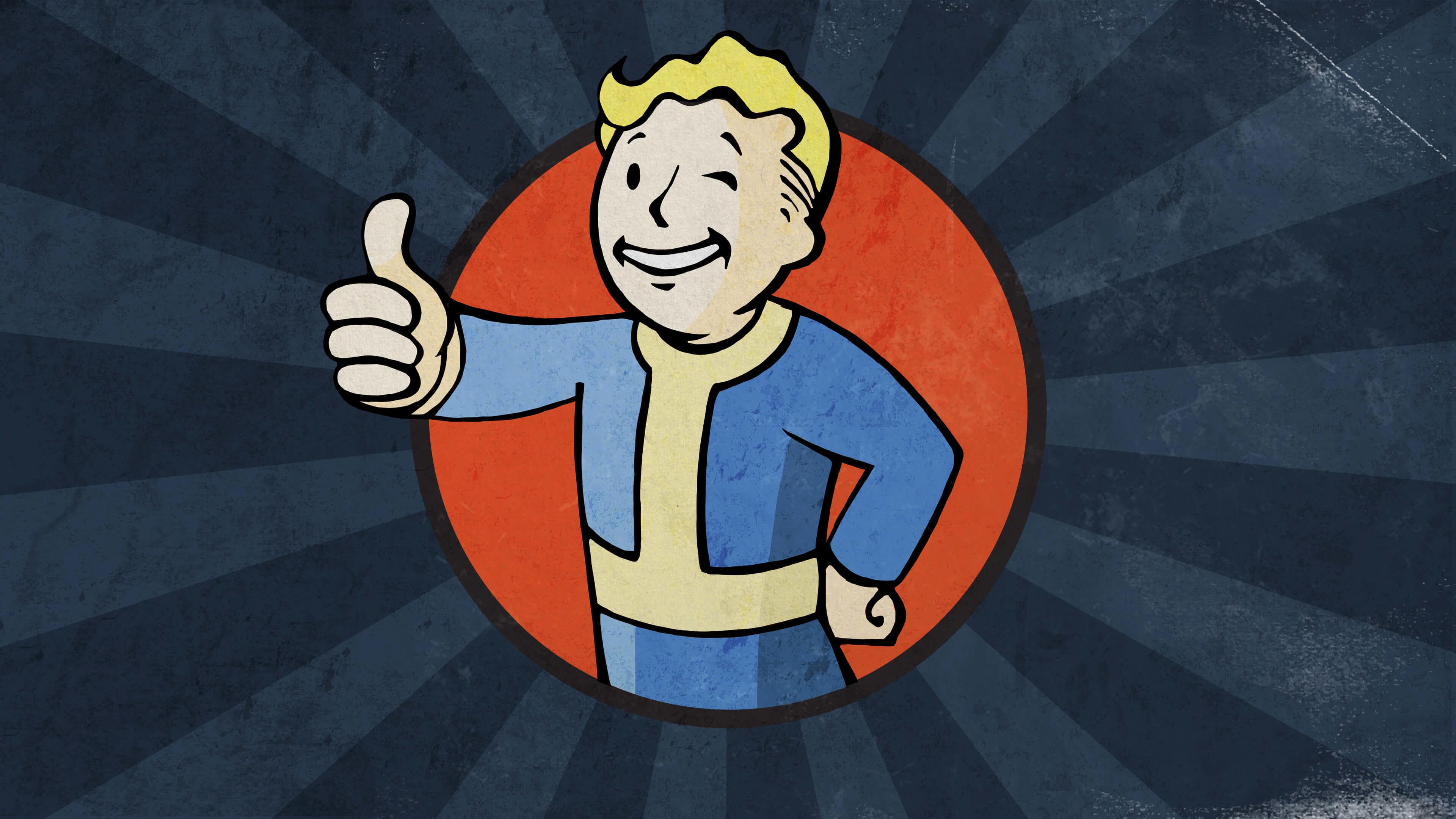 fallout vault boy blue uhd 4k wallpaper