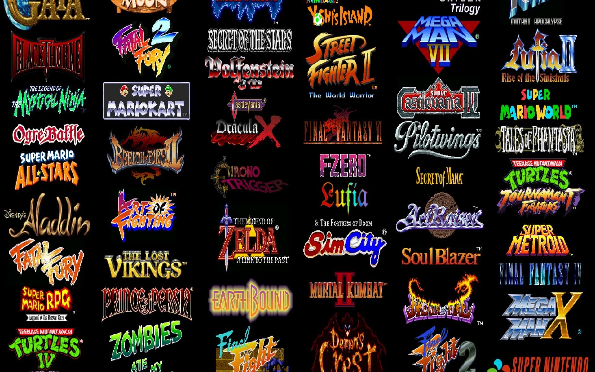 Video games super nintendo retro games wallpaper     20815 .