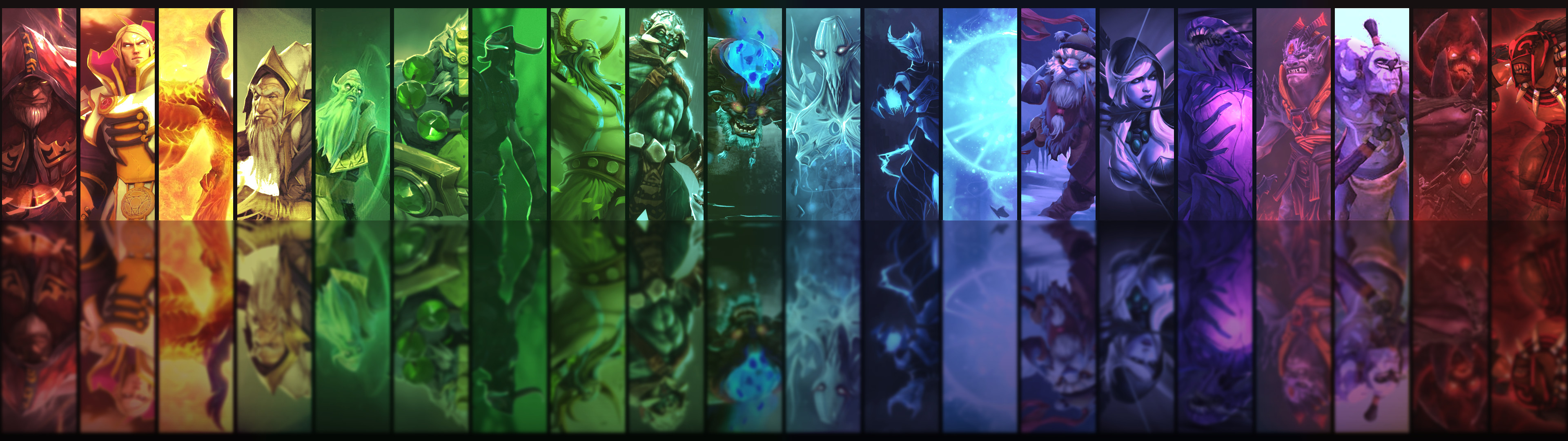 … Dota2 Heroes Dual Monitor Background by 3i20d99e