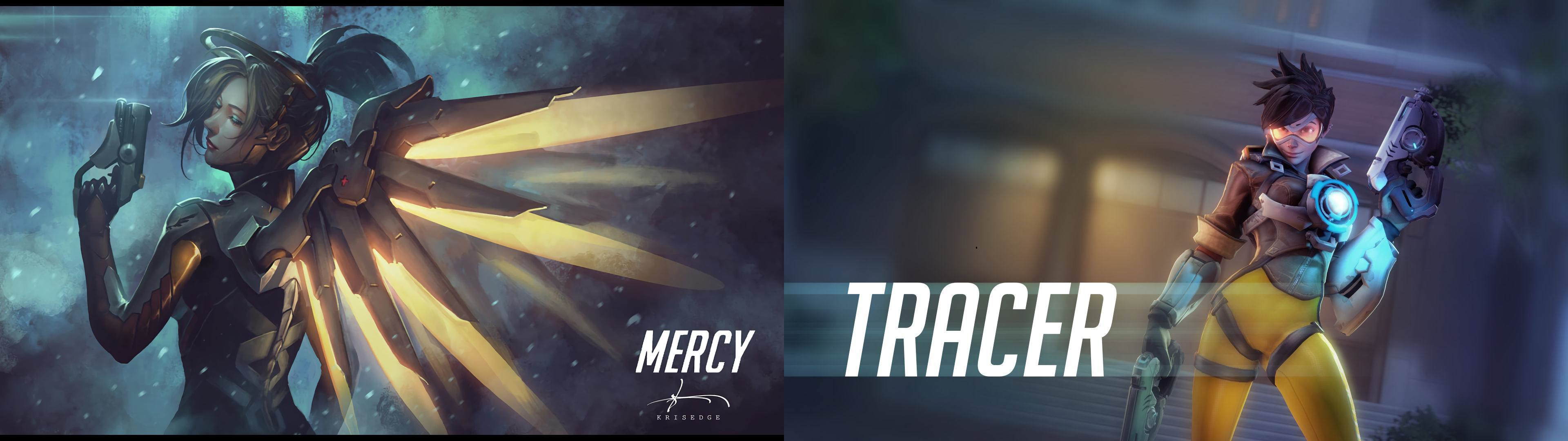 Mercyracer Dual Monitor Background by IDarkStalker Mercyracer Dual Monitor  Background by IDarkStalker
