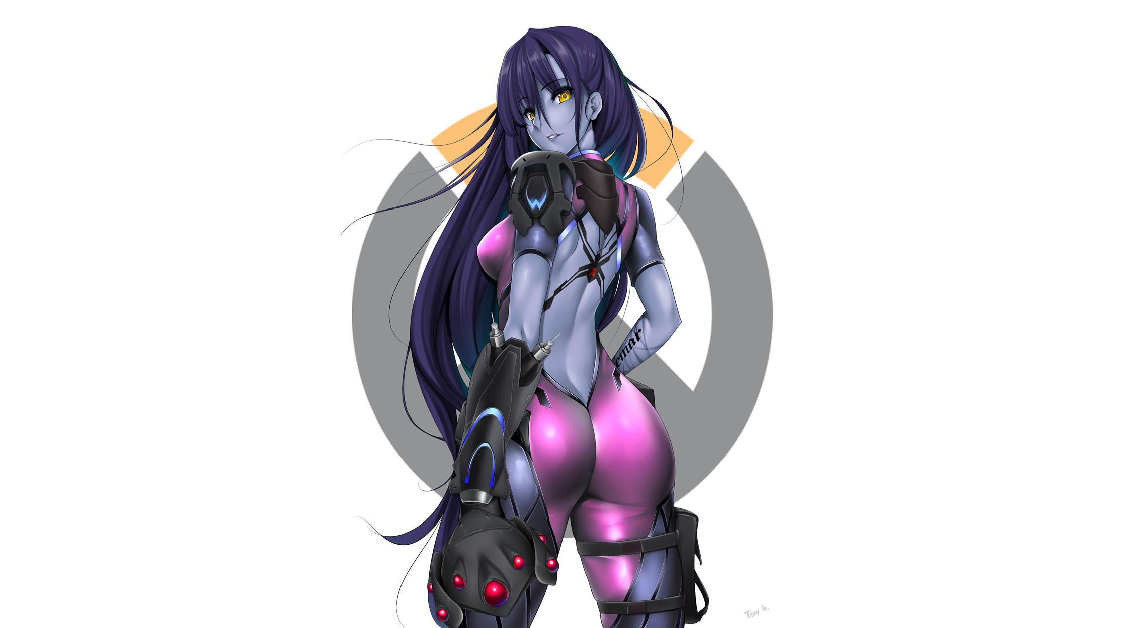 Video Game – Overwatch Widowmaker (Overwatch) Long Hair Purple Hair Yellow  Eyes Wallpaper