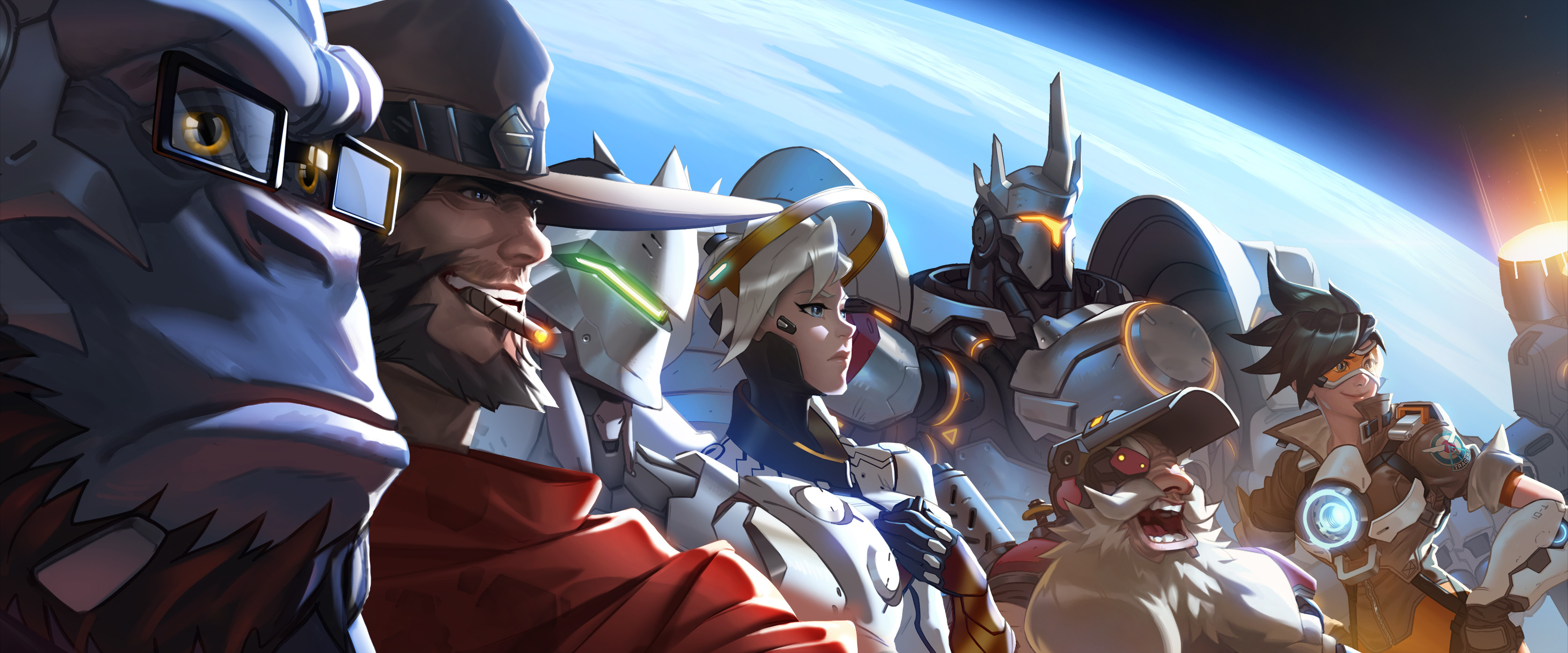Video Game – Overwatch Winston (Overwatch) McCree (Overwatch) Mercy ( Overwatch)