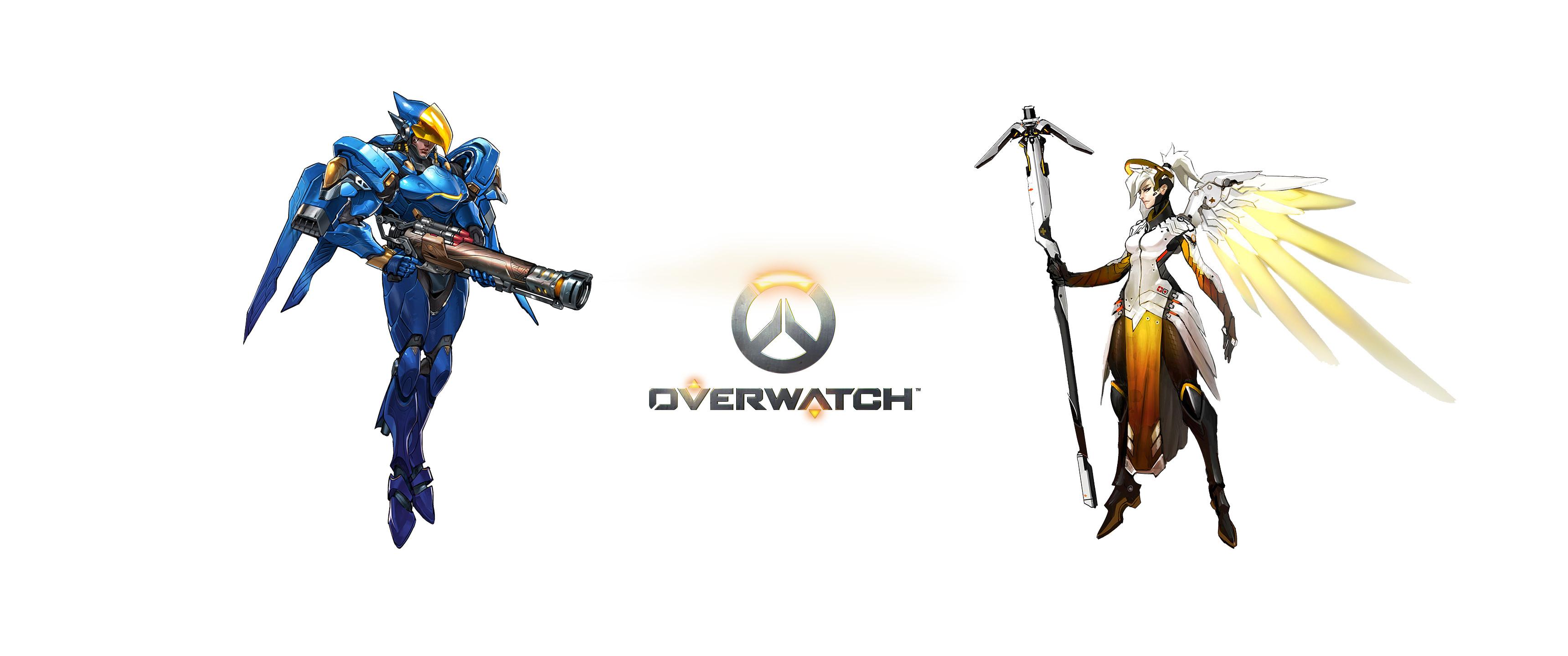 Video Game – Overwatch Pharah (Overwatch) Mercy (Overwatch) Bakgrund
