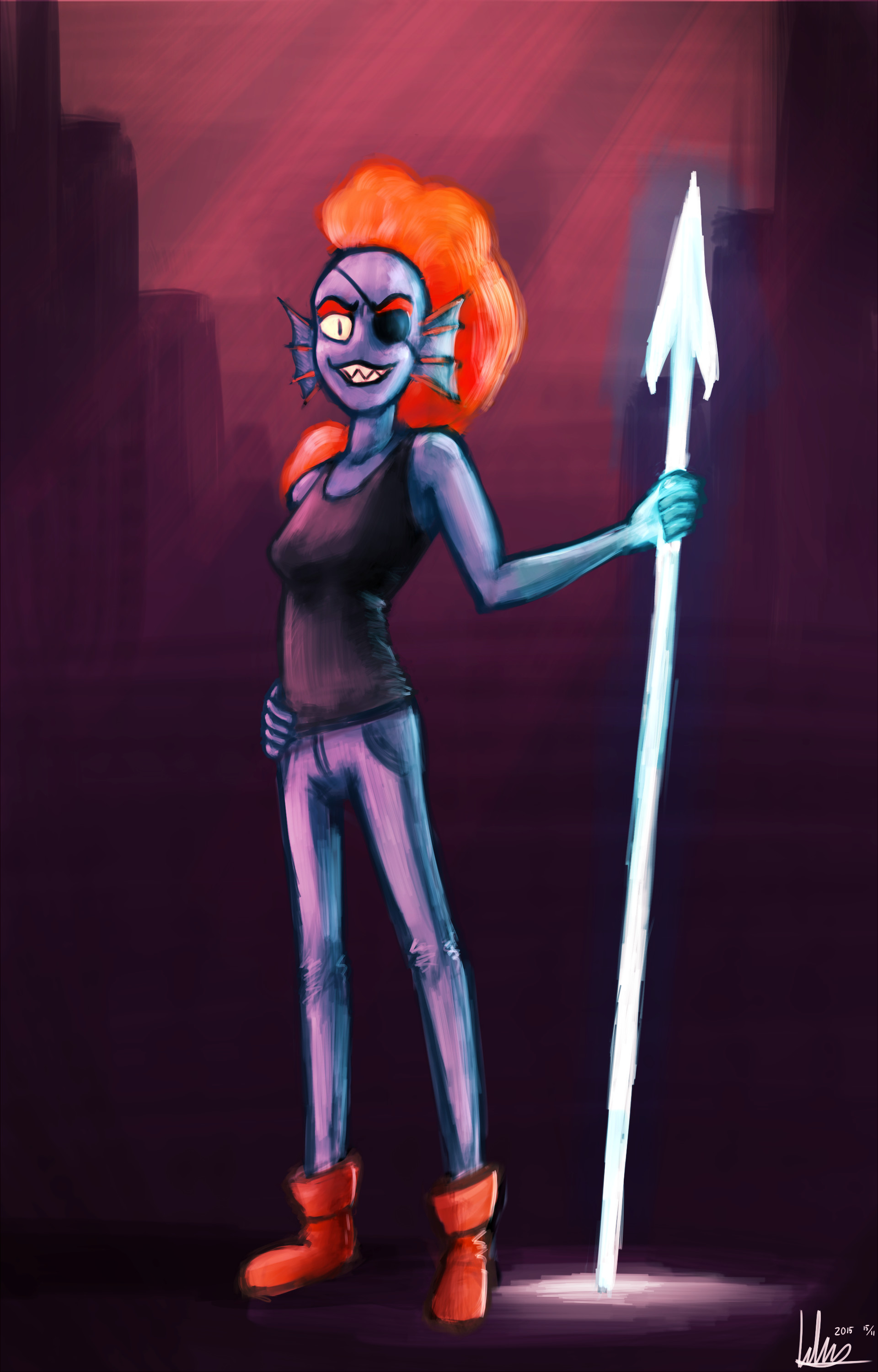 … Undertale – Undyne by Khan-the-cake-lover