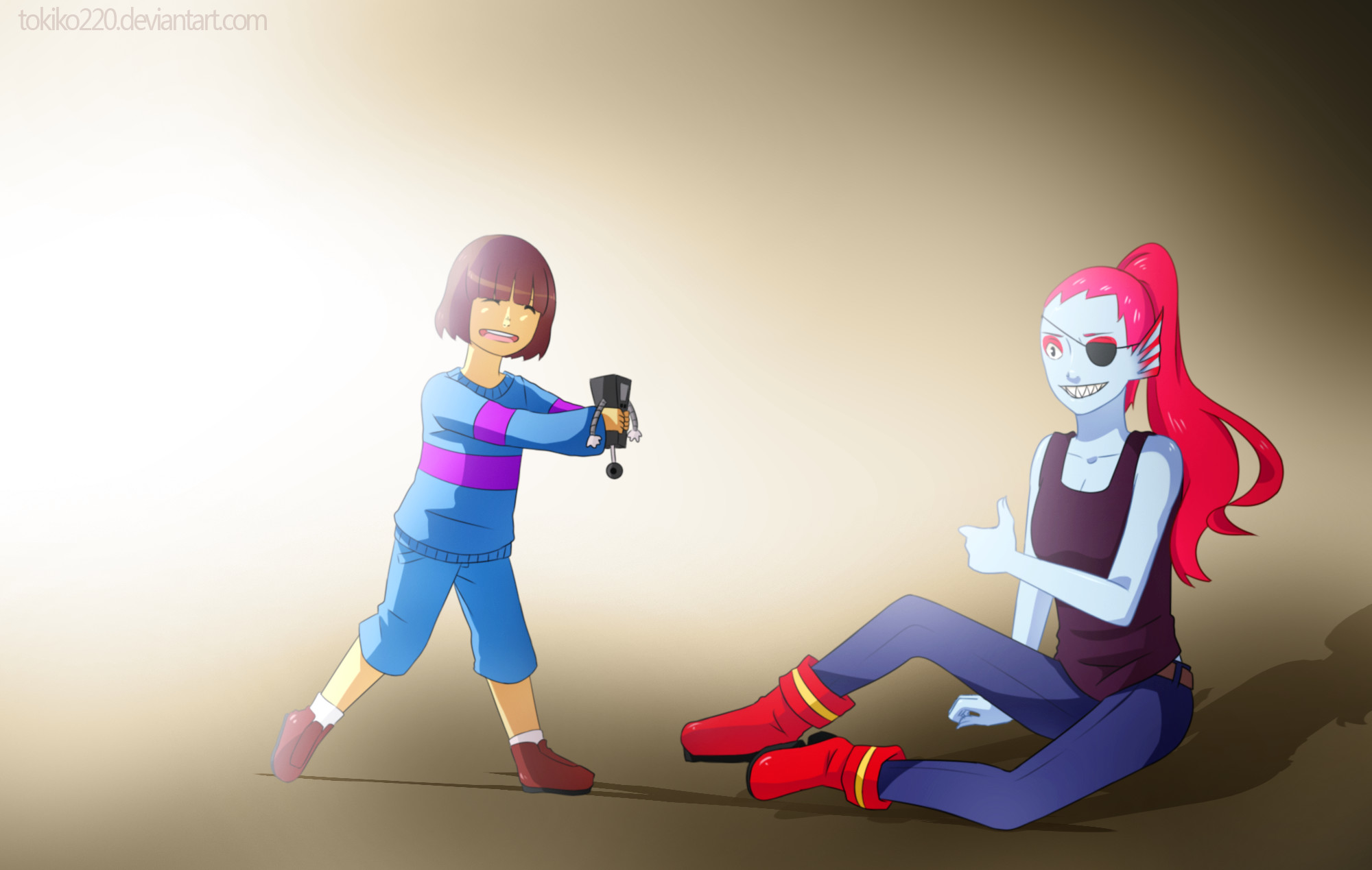 … UNDERTALE: Frisk and Undyne by Tokiko220