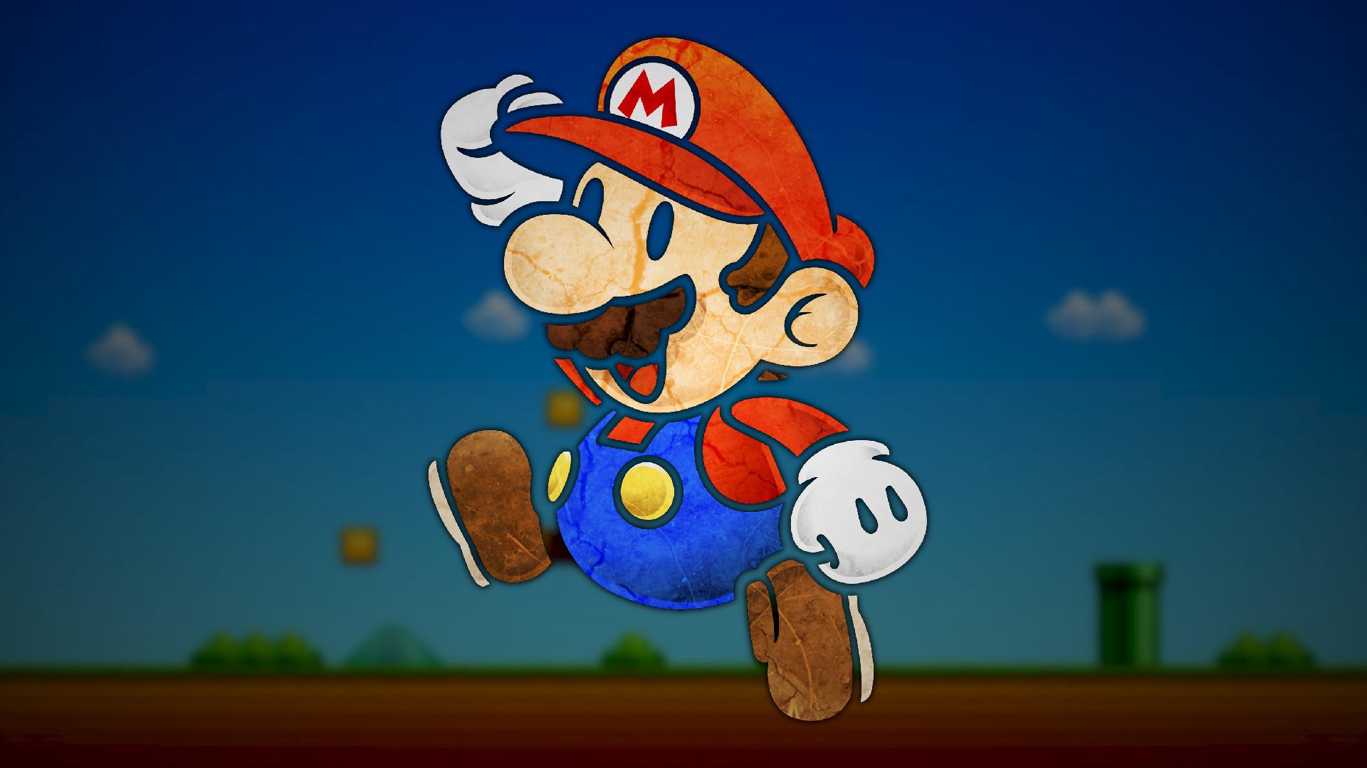 Super Mario, Paper Mario, Video Games, Digital Art, Nintendo .
