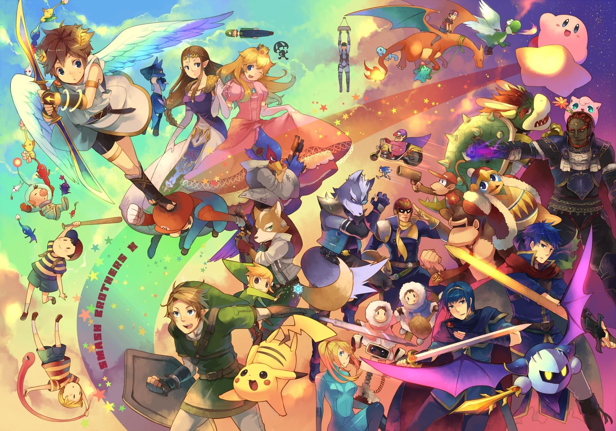 Computerspiele – Nintendo Smash Brawl Bros Wallpaper