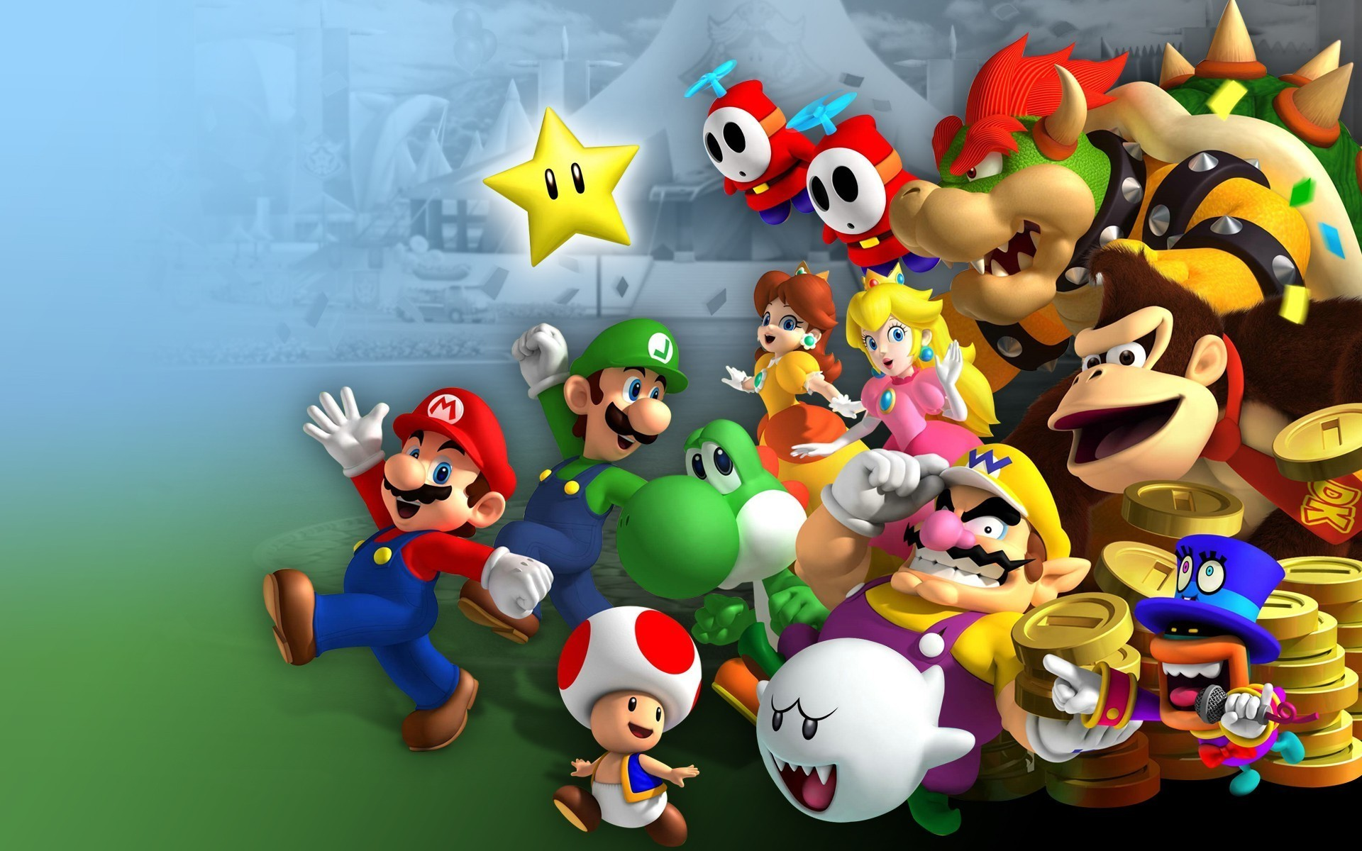Mario Bros., Luigi, Princess Peach, Yoshi, Wario, Donkey Kong, Toad  (character), Video Games, Nintendo, Mario Kart 8 Wallpapers HD / Desktop  and Mobile …