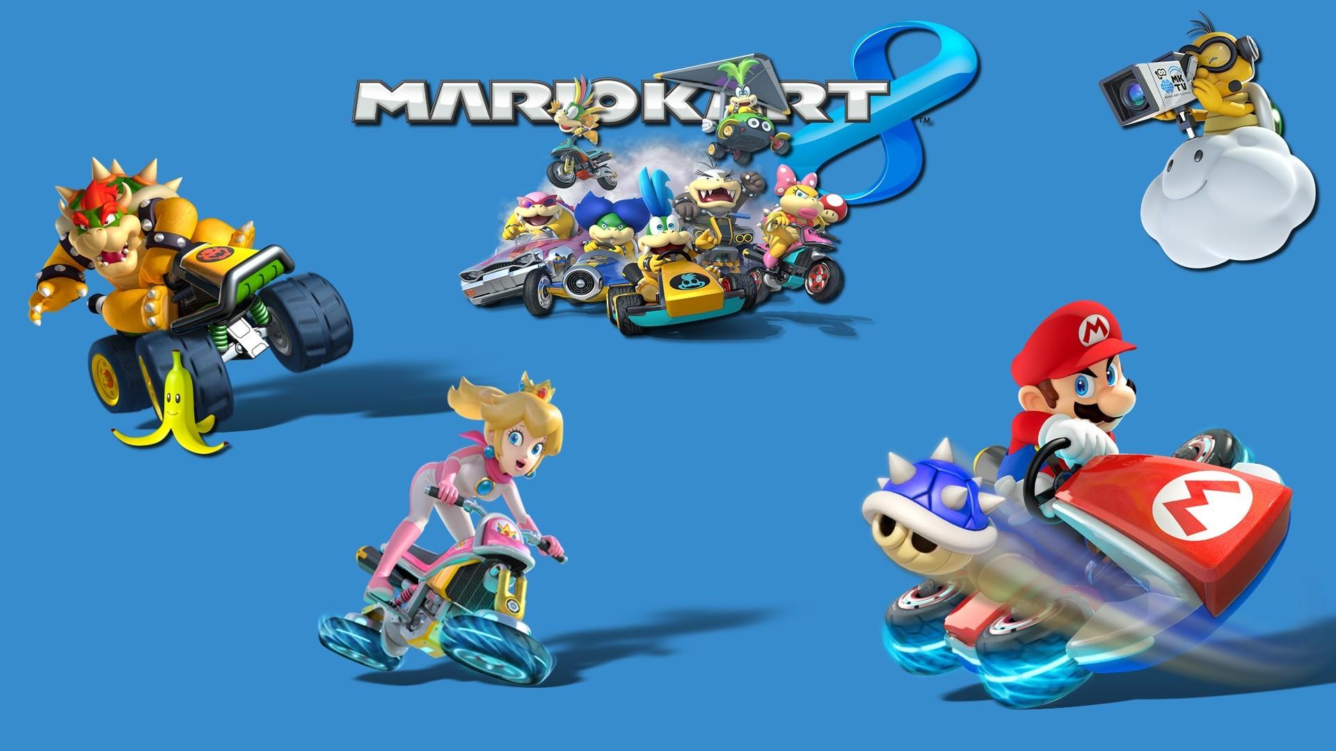Mario Kart 8, Video Games, Toad (character), Mario Bros., Princess Peach, Nintendo  Wallpapers HD / Desktop and Mobile Backgrounds
