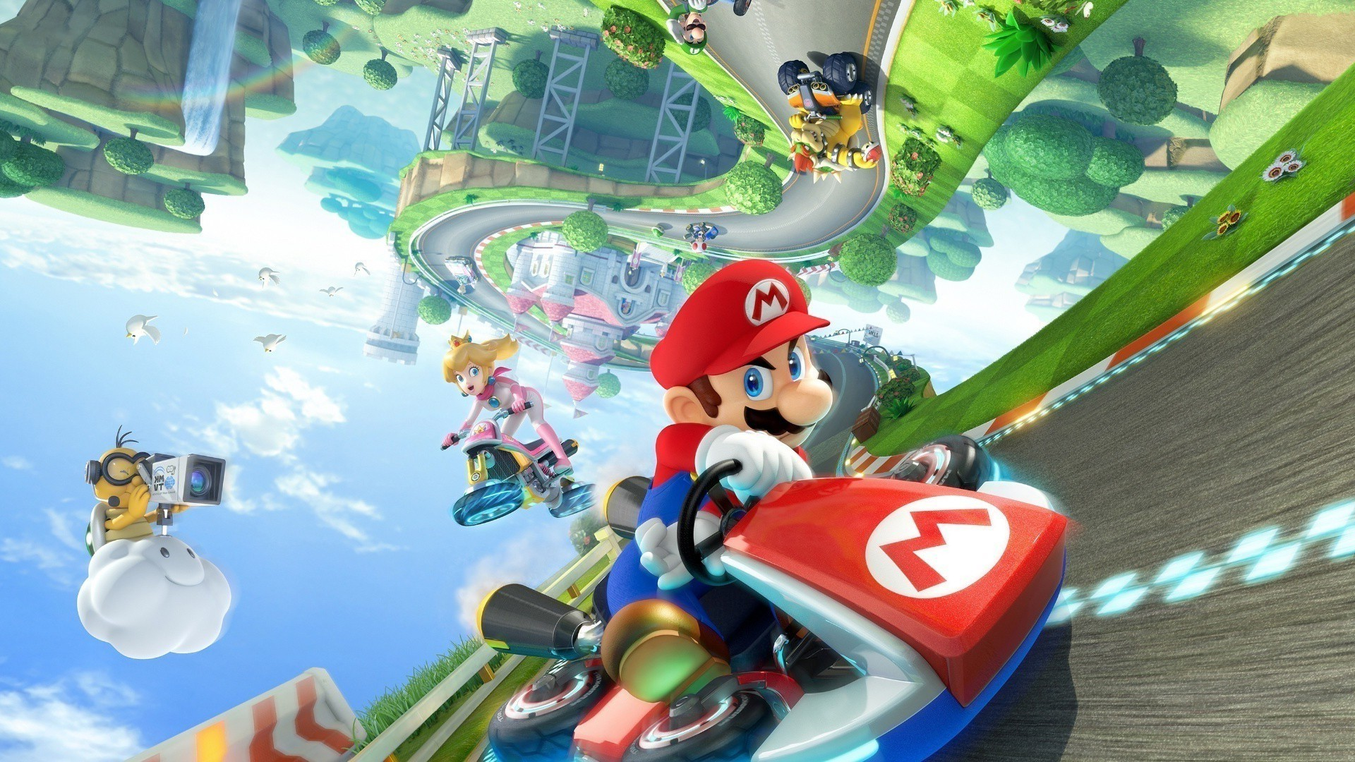 Kart, Super Mario, Princess Peach, Bowser, Mario Kart, Nintendo, Wii U,  Video Games Wallpapers HD / Desktop and Mobile Backgrounds