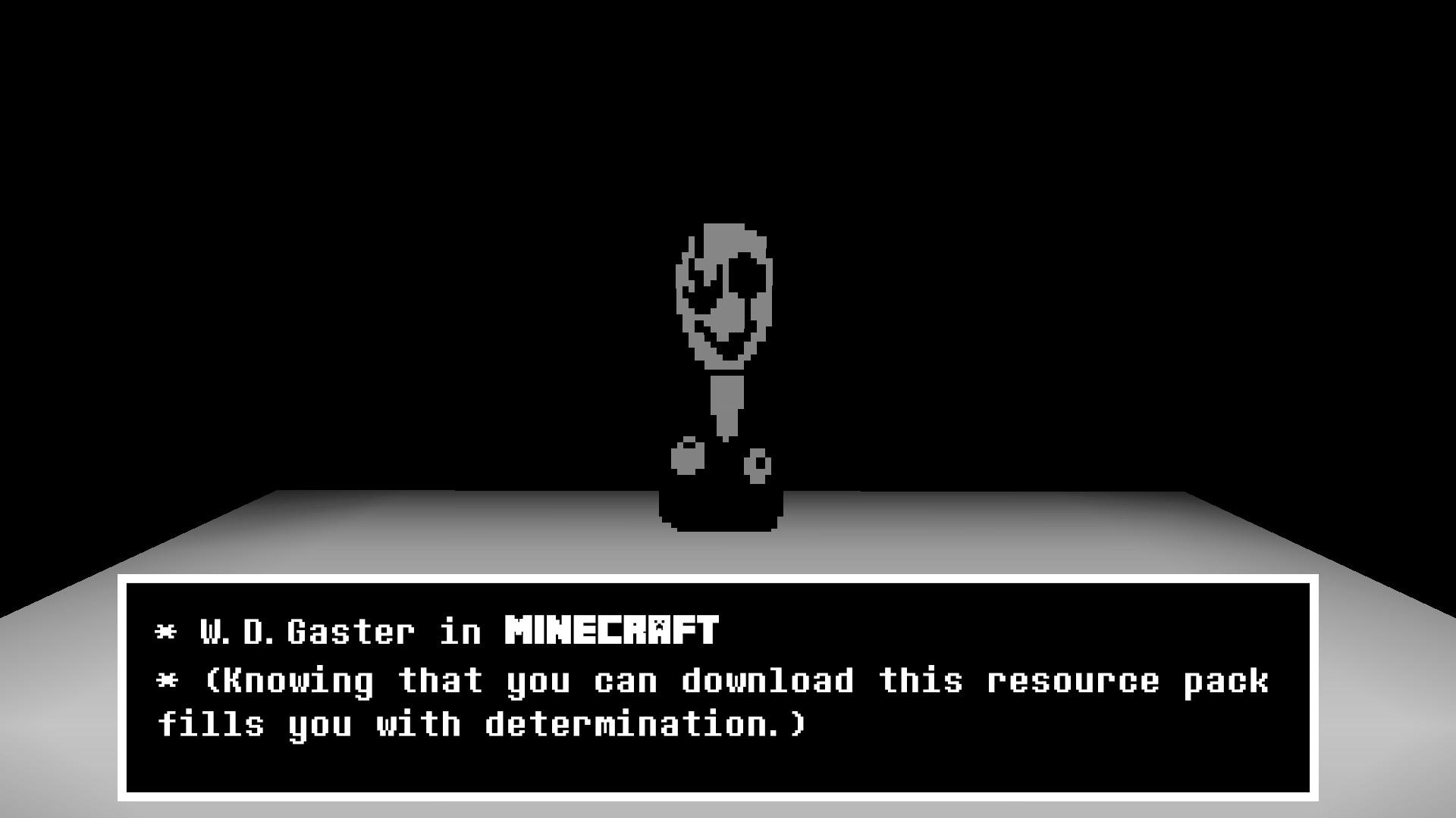 … W. D. Gaster in Minecraft (Resource Pack) by Dragoner7