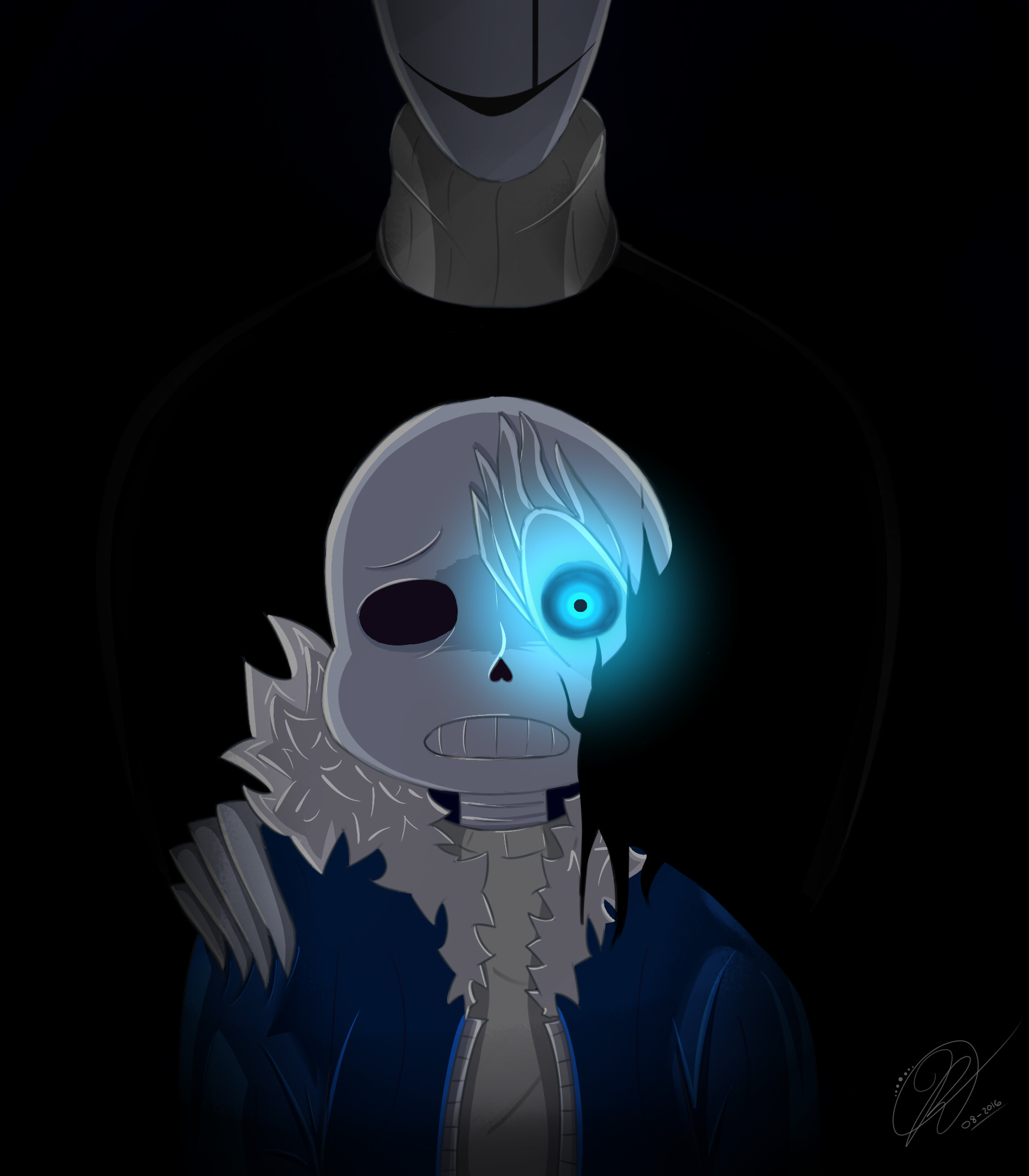… [Undertale] – Sans and Gaster by CrowlKitsune