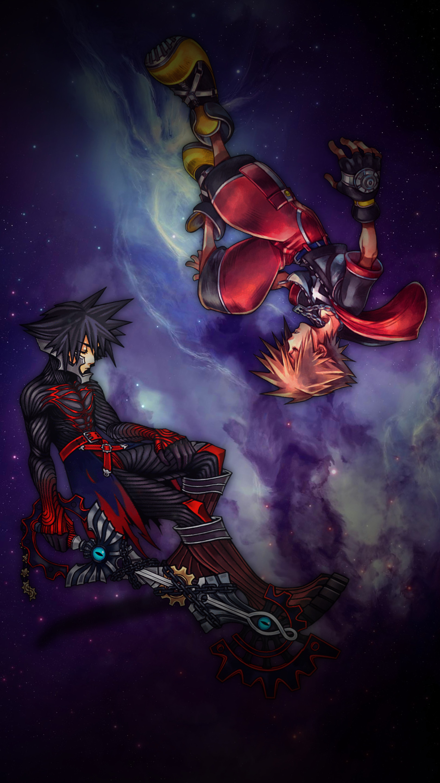 Sora and Vanitas Kingdom Hearts iPhone Wallpaper-C by judah2x0 …