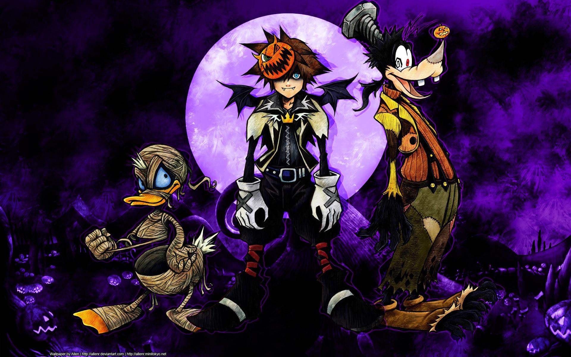 Kingdom Hearts disney halloween wallpaper     48762 .
