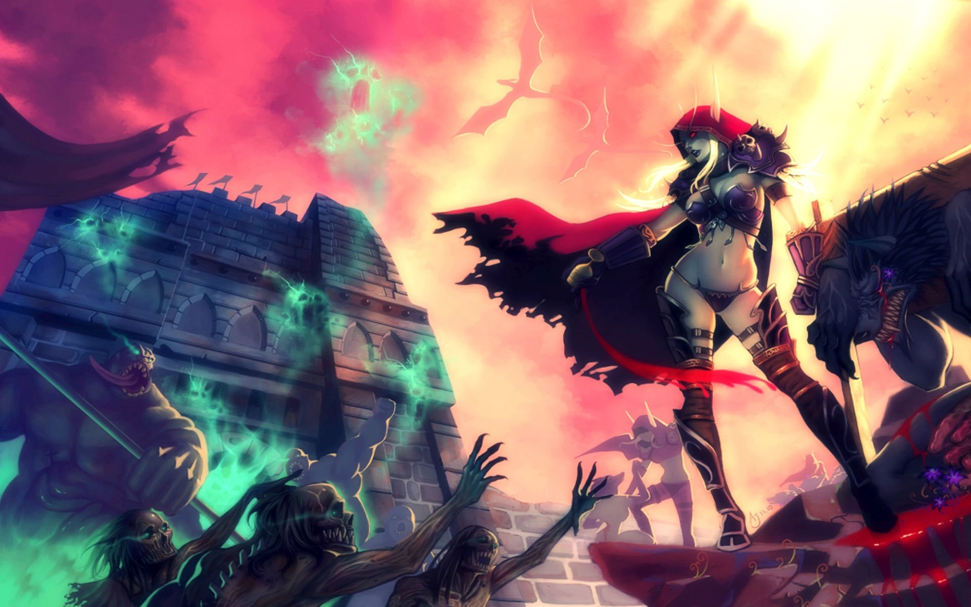 Cosplay Sylvanas Windrunner World of Warcraft · Fond d'écran HD    Arrière-plan ID:204747