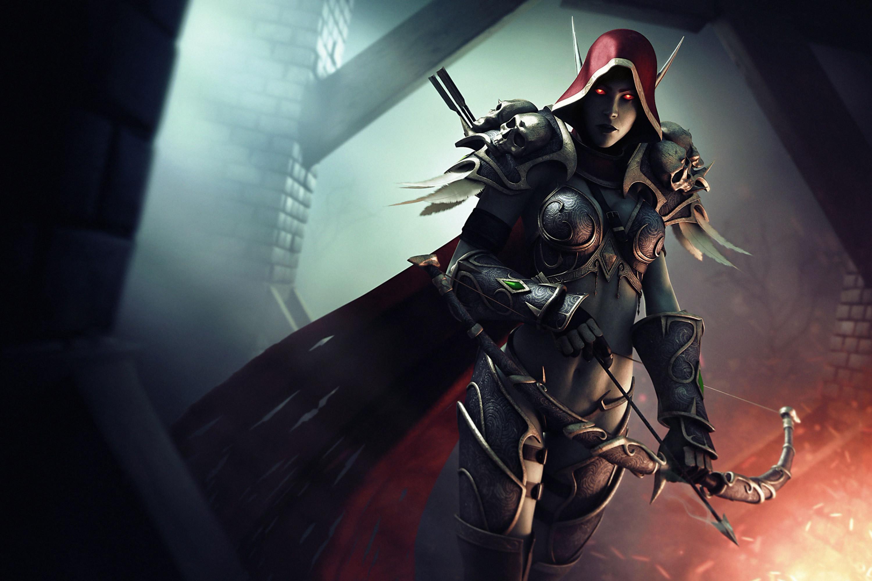 World of WarCraft WoW Archers Warriors Sylvanas Windrunner Armor Games  warrior fantasy wallpaper
