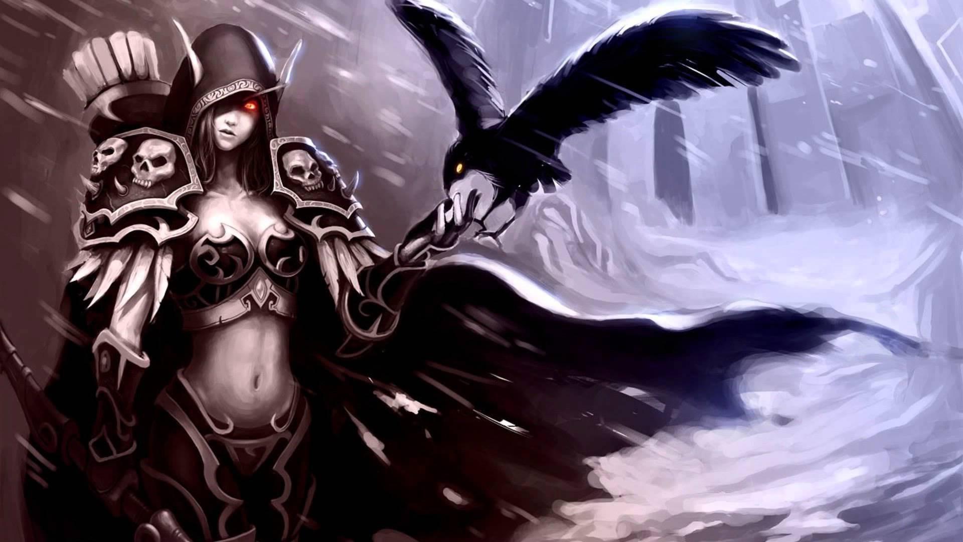Sylvanas Windrunner, Video Games, World Of Warcraft, Raven, Digital Art,  Artwork Wallpapers HD / Desktop and Mobile Backgrounds