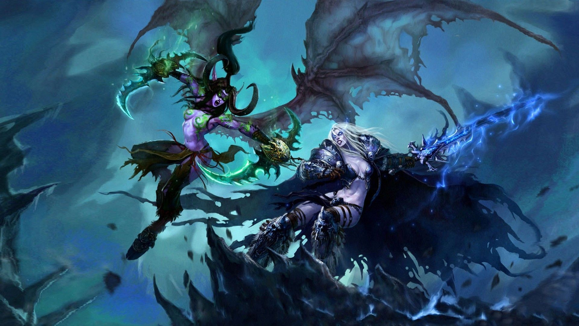 Illidan vs Sylvanas – World of Warcraft wallpaper #16140