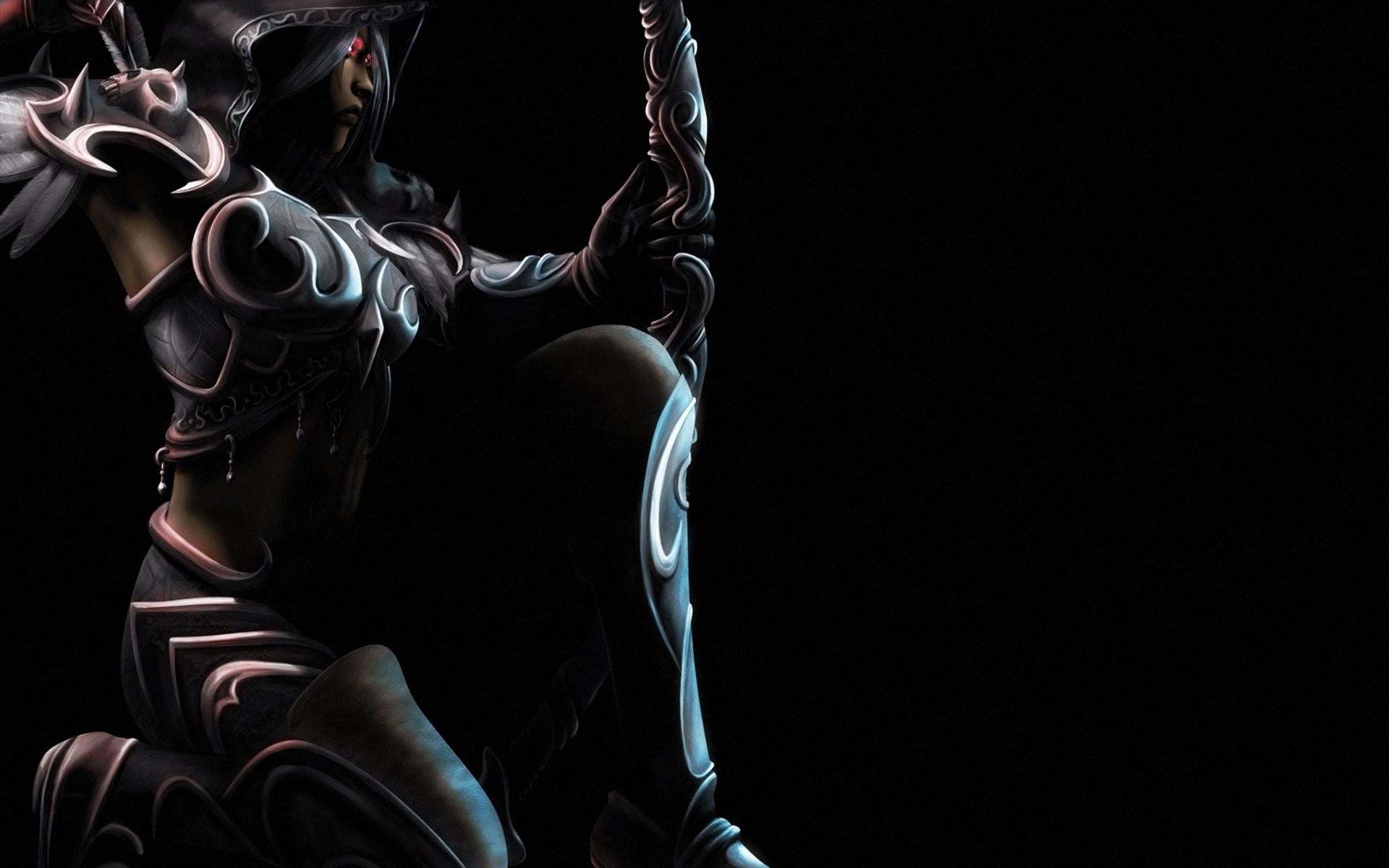 Fantasy – Archer Sylvanas Windrunner Beautiful Armor Dark Woman Warrior CGI  Fantasy Wallpaper