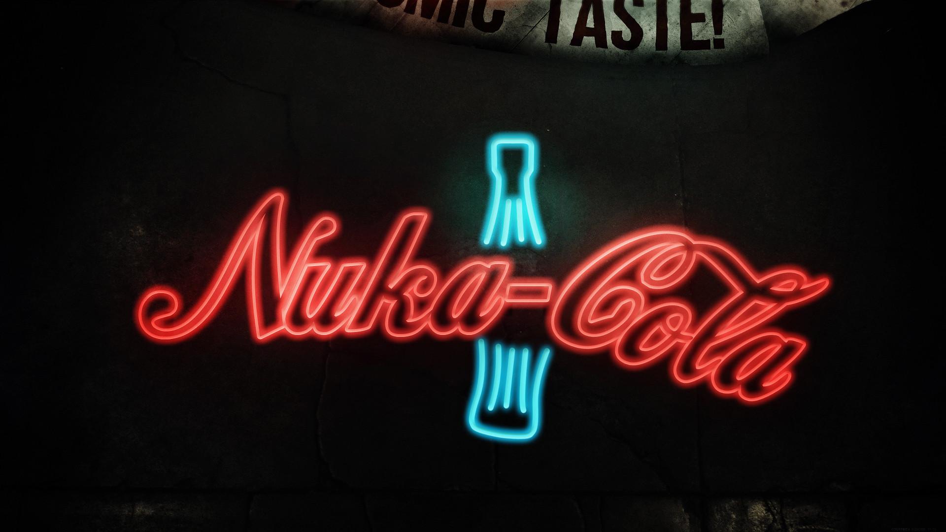 Nuka-Cola Soda Sign Neon Bottle Fallout HD wallpaper thumb