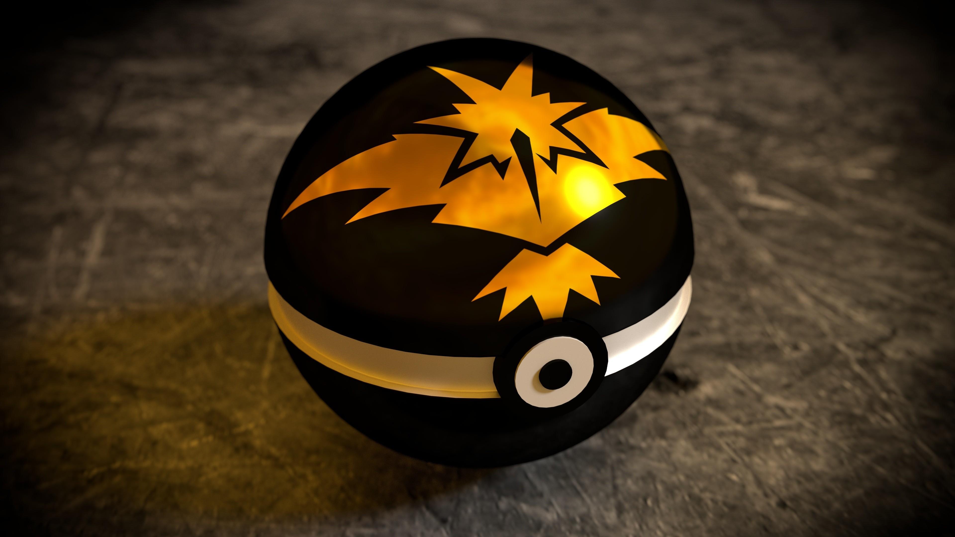 Preview wallpaper pokemon go, pokeball, game 3840×2160