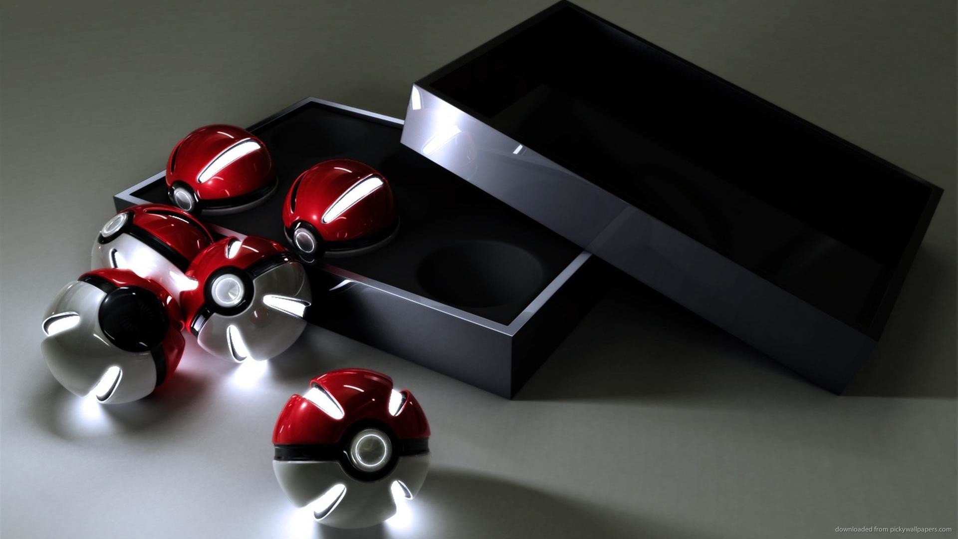 Box of 3D Glowing Pokeballs picture