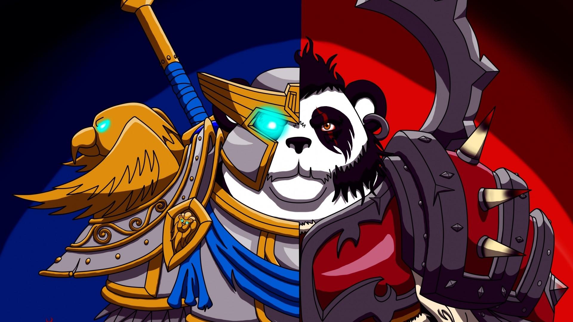 Wallpaper world of warcraft, wow, alliance and horde, panda